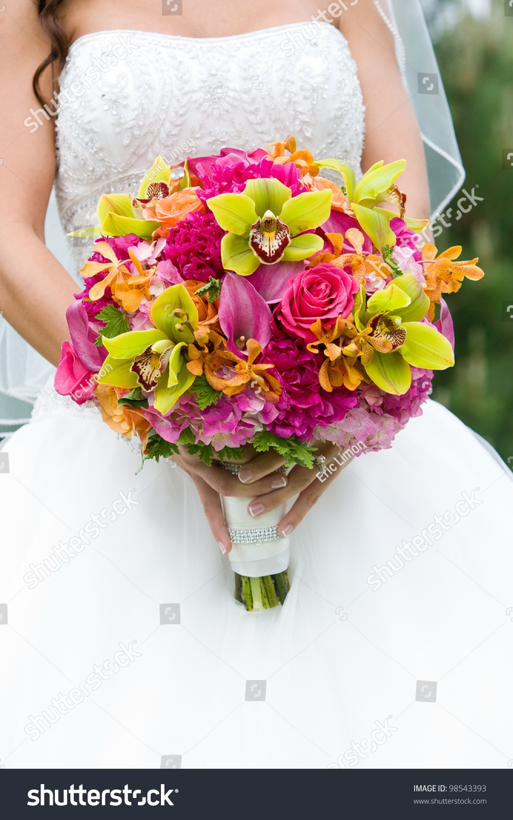 Wedding Bouquet Flowers Held By Bride Stock Photo Edit Now