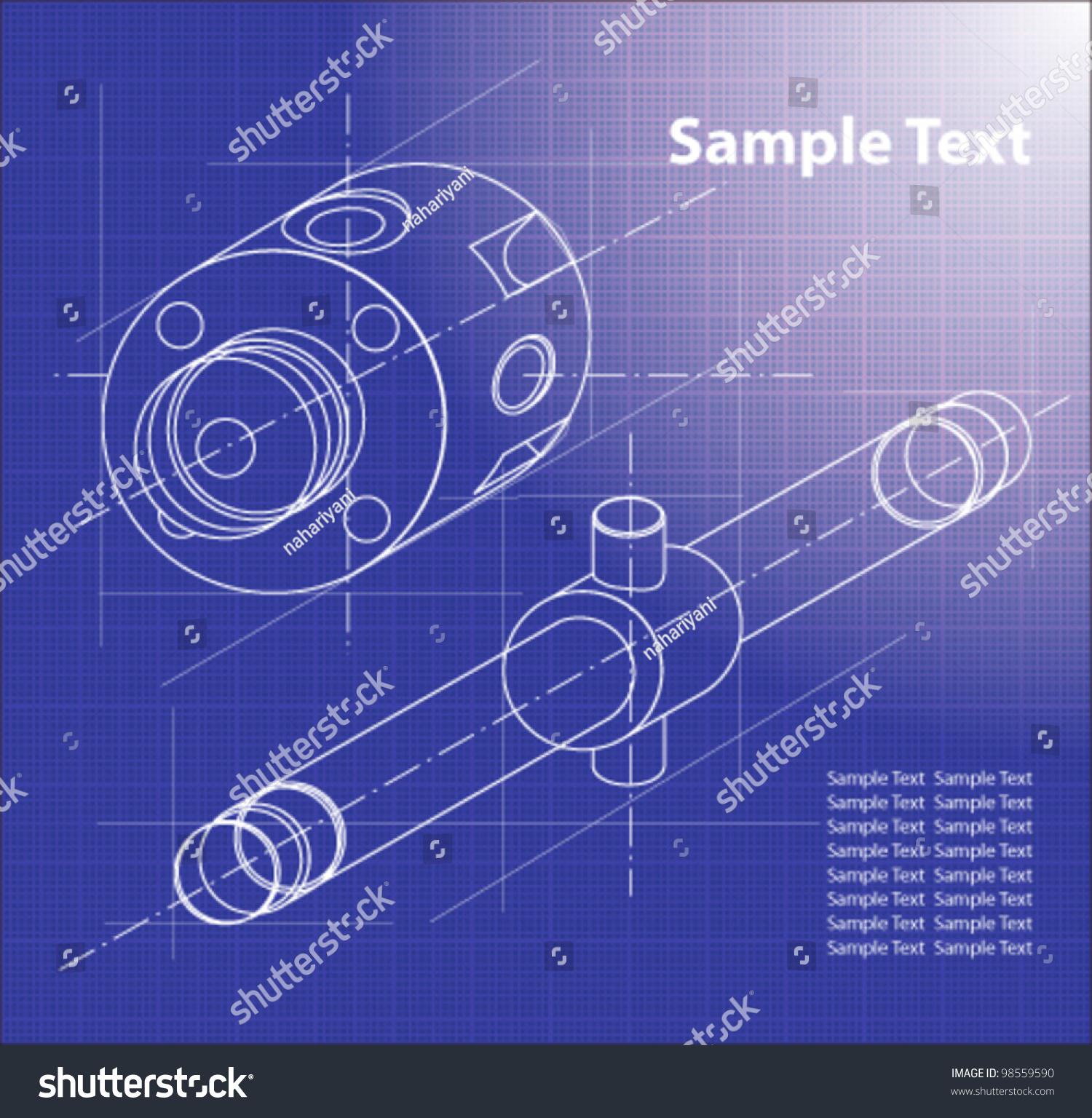 Technical Blueprint  Vector   Technical Background  Part