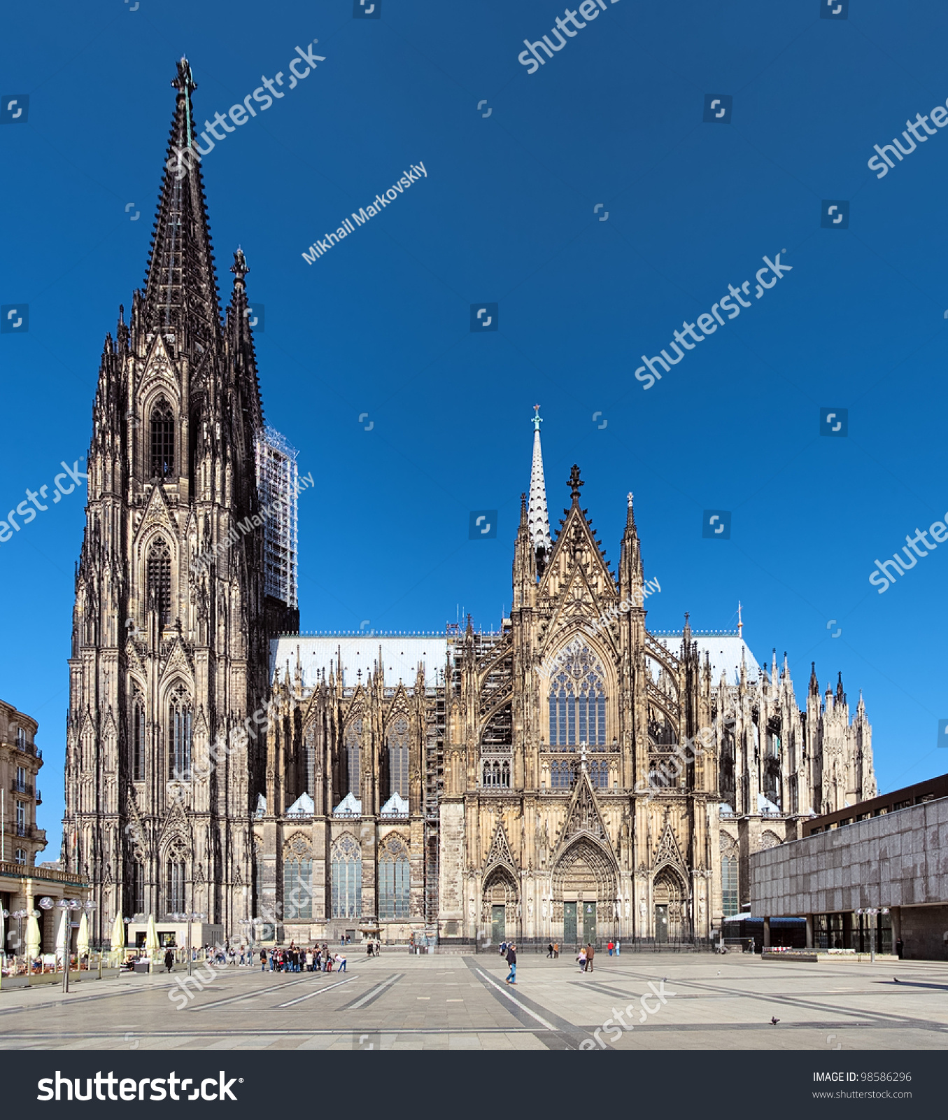 Cologne Cathedral At Dusk Evening Cityscape Wallpaper: Cologne Cathedral On The South Side, Germany Stock Photo
