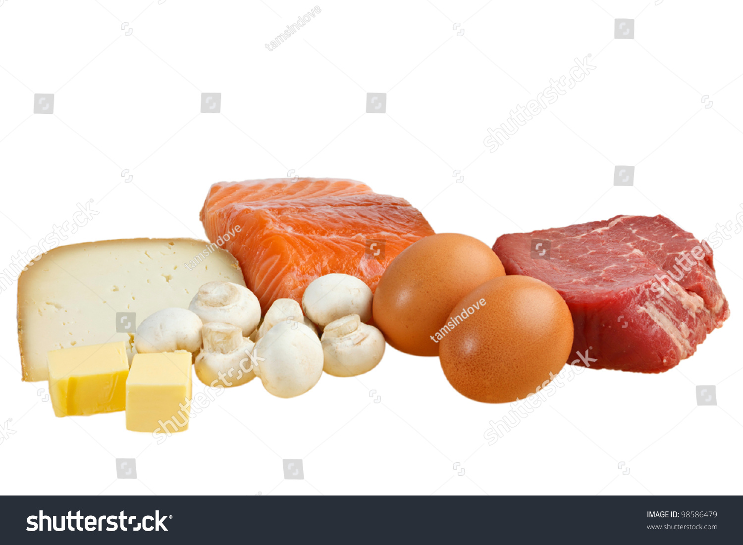 Food sources vitamin d including fish stock photo 98586479 for Vitamin d fish