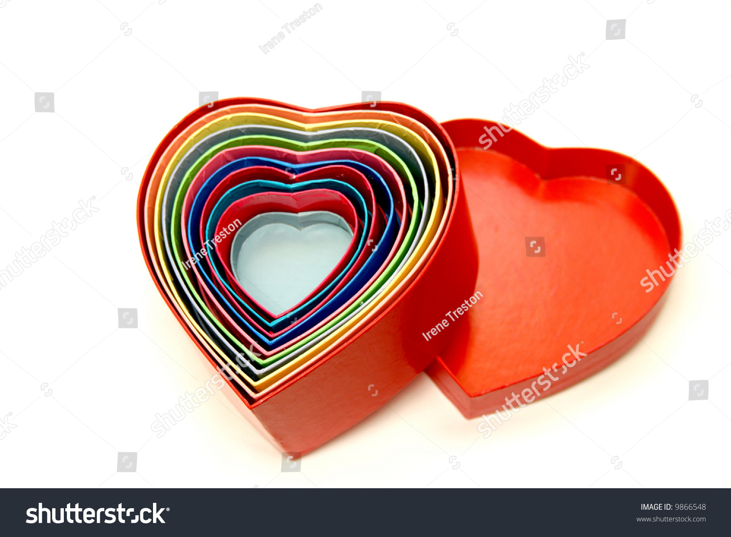 Heart shaped boxes within one another stock photo 9866548 shutterstock heart shaped boxes within one another to as a colorful symbol of love biocorpaavc Images