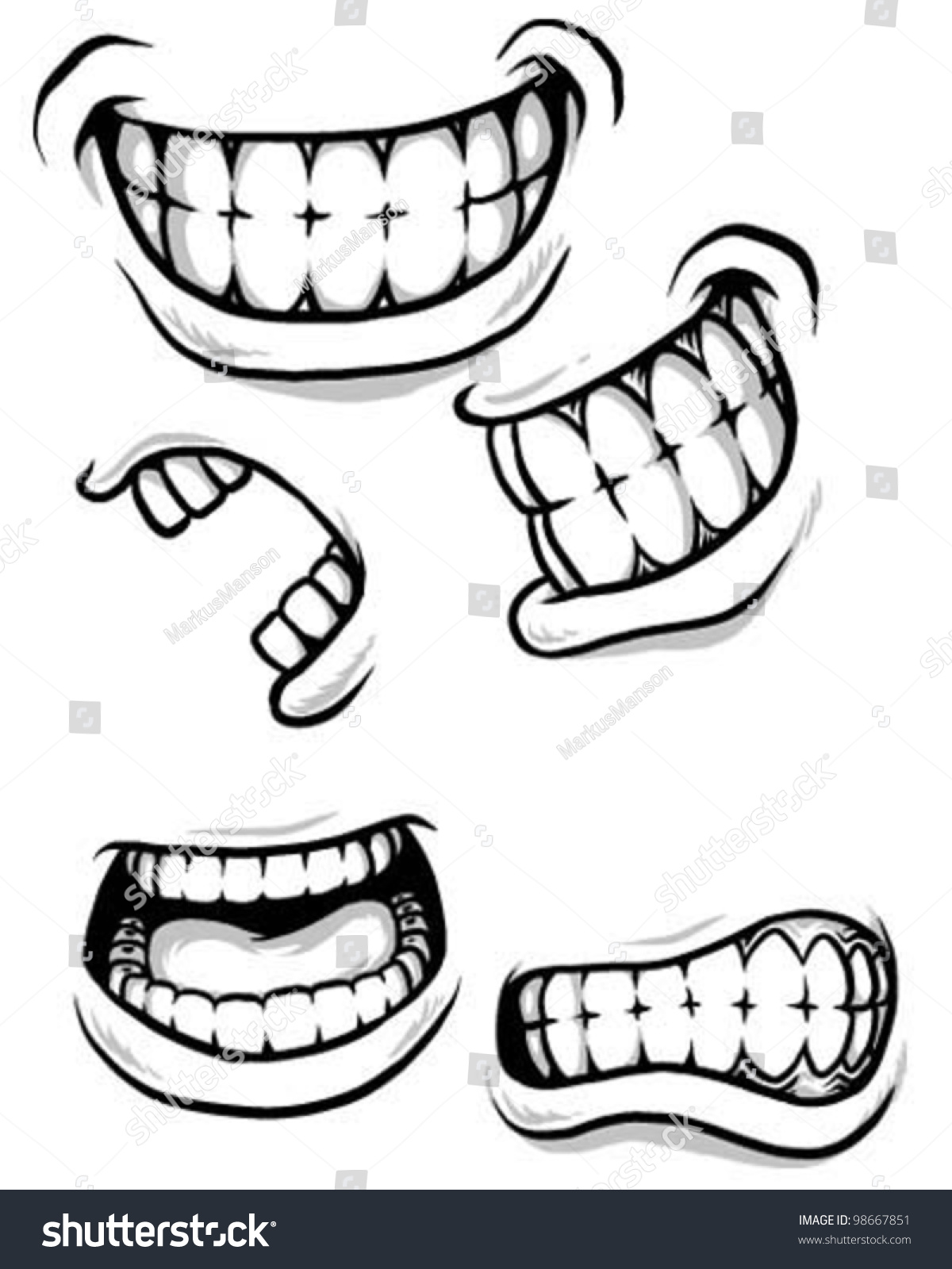 how to draw stylized mouth