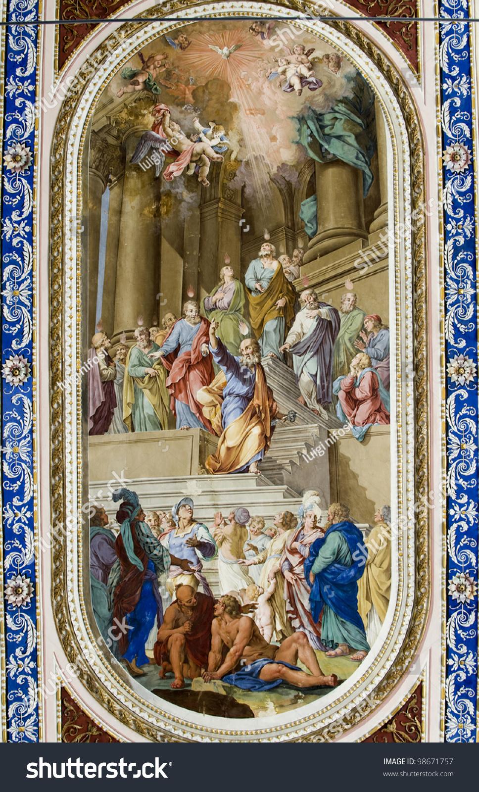 Europe italy sicily noto siracusa fresco stock photo for Baroque italien
