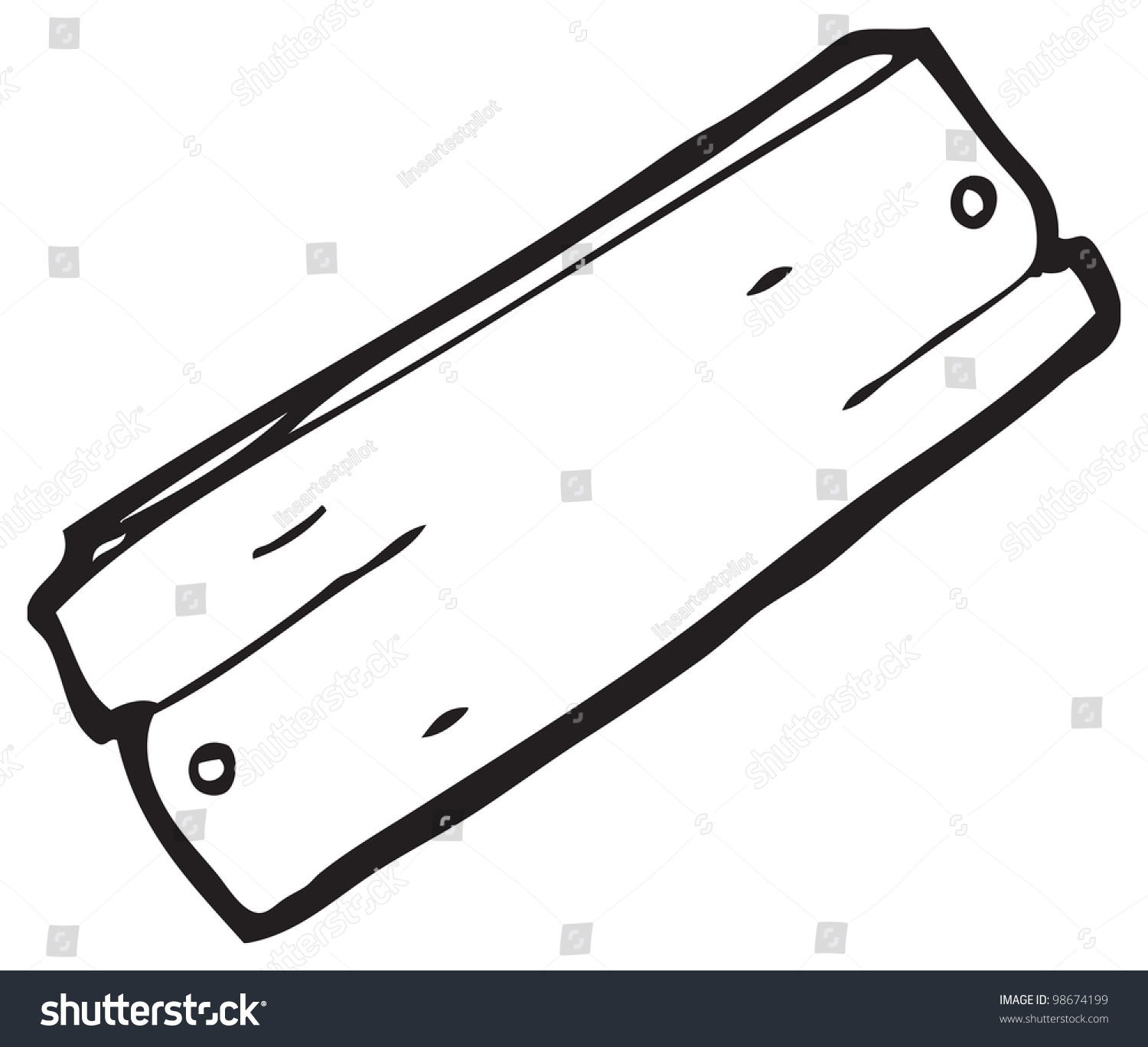 Cartoon wooden plank stock illustration