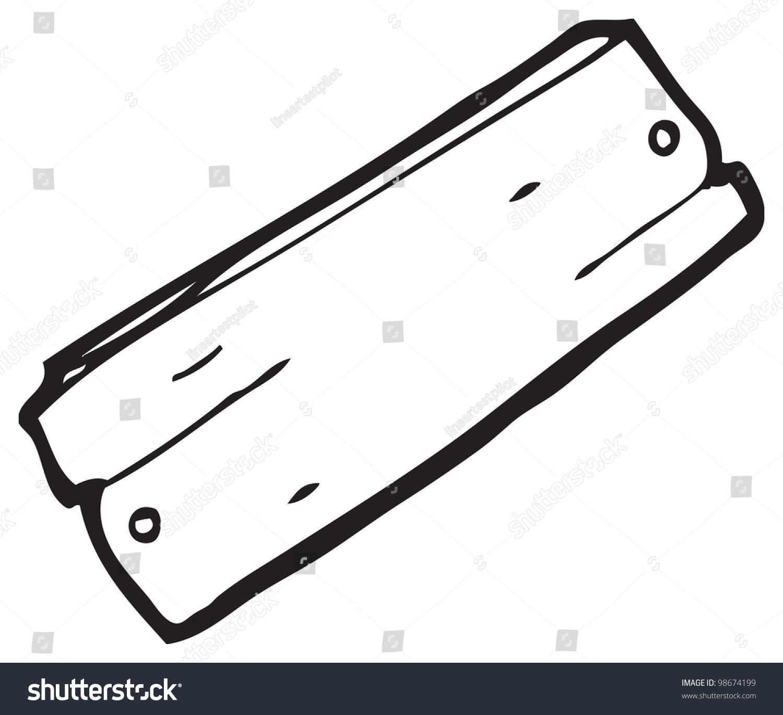 Wooden Plank Cartoon : Cartoon Wooden Plank Stock Photo 98674199 : Shutterstock