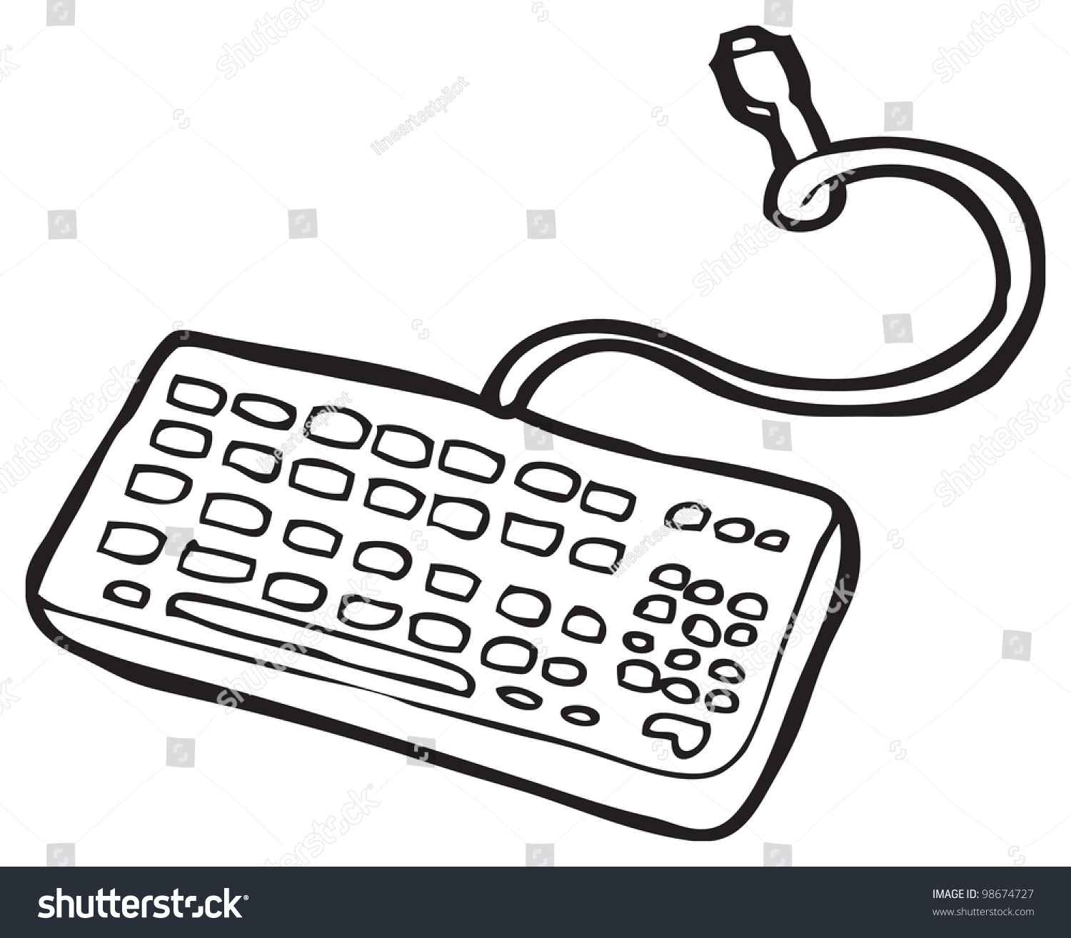 Cartoon Keyboard Stock Illustration 98674727