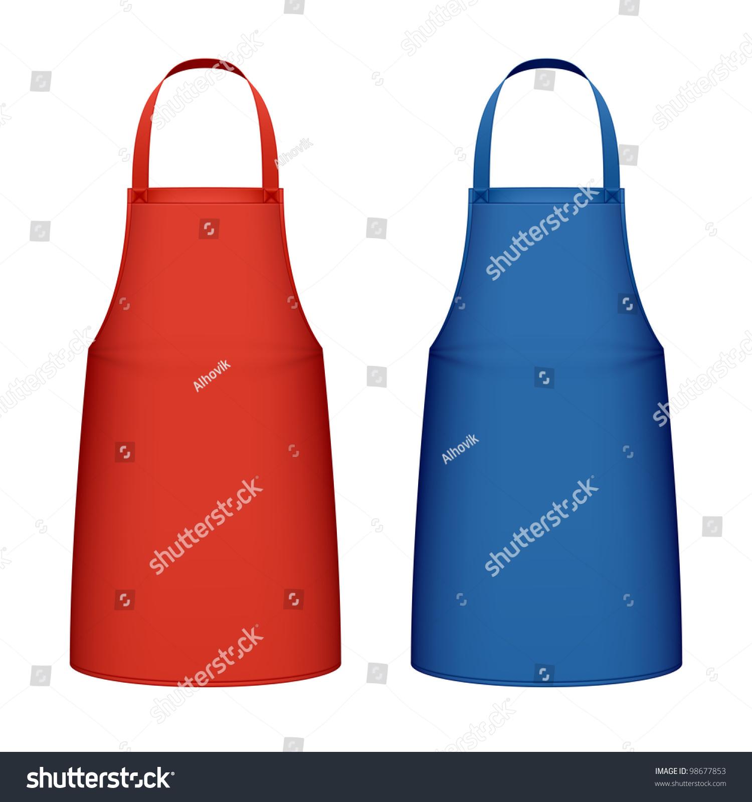White apron mockup - Kitchen Apron Vector