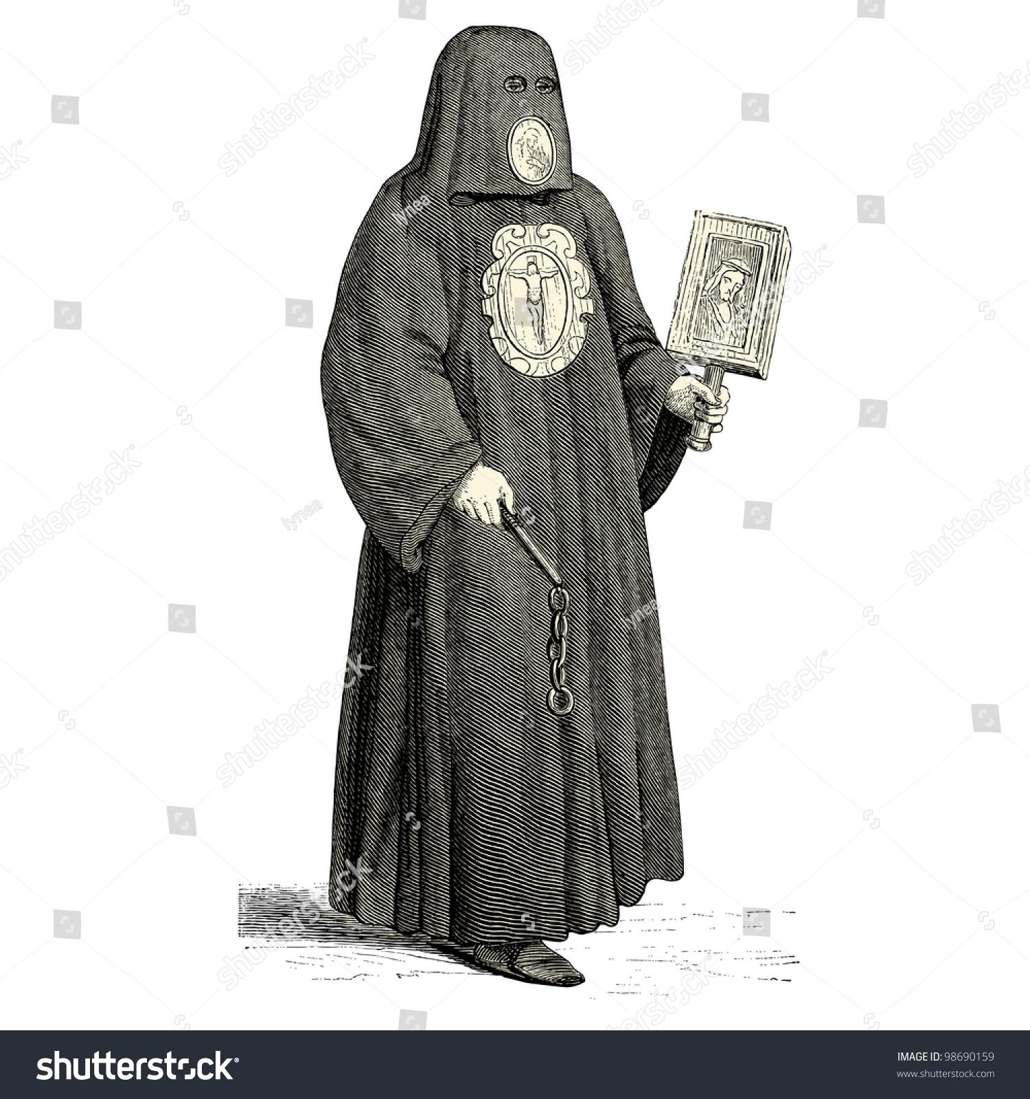 Executioner Medieval Times Vintage Engraved Illustration ...