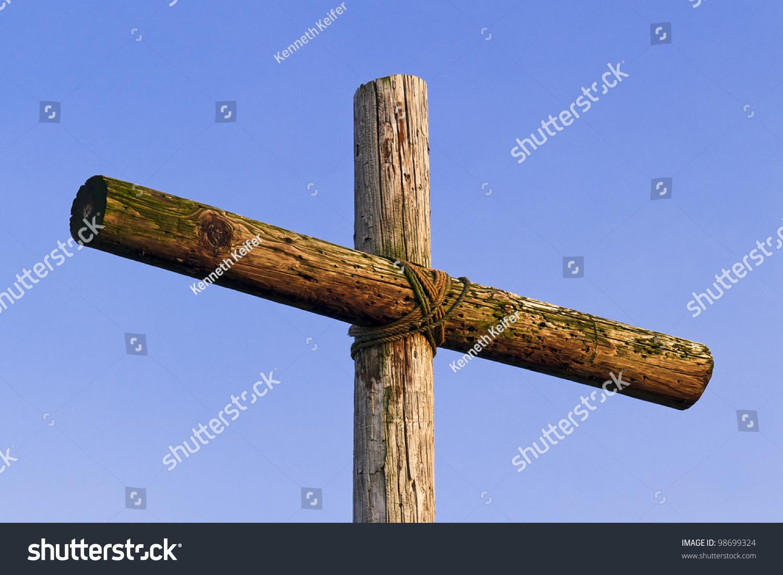 Rough wooden cross