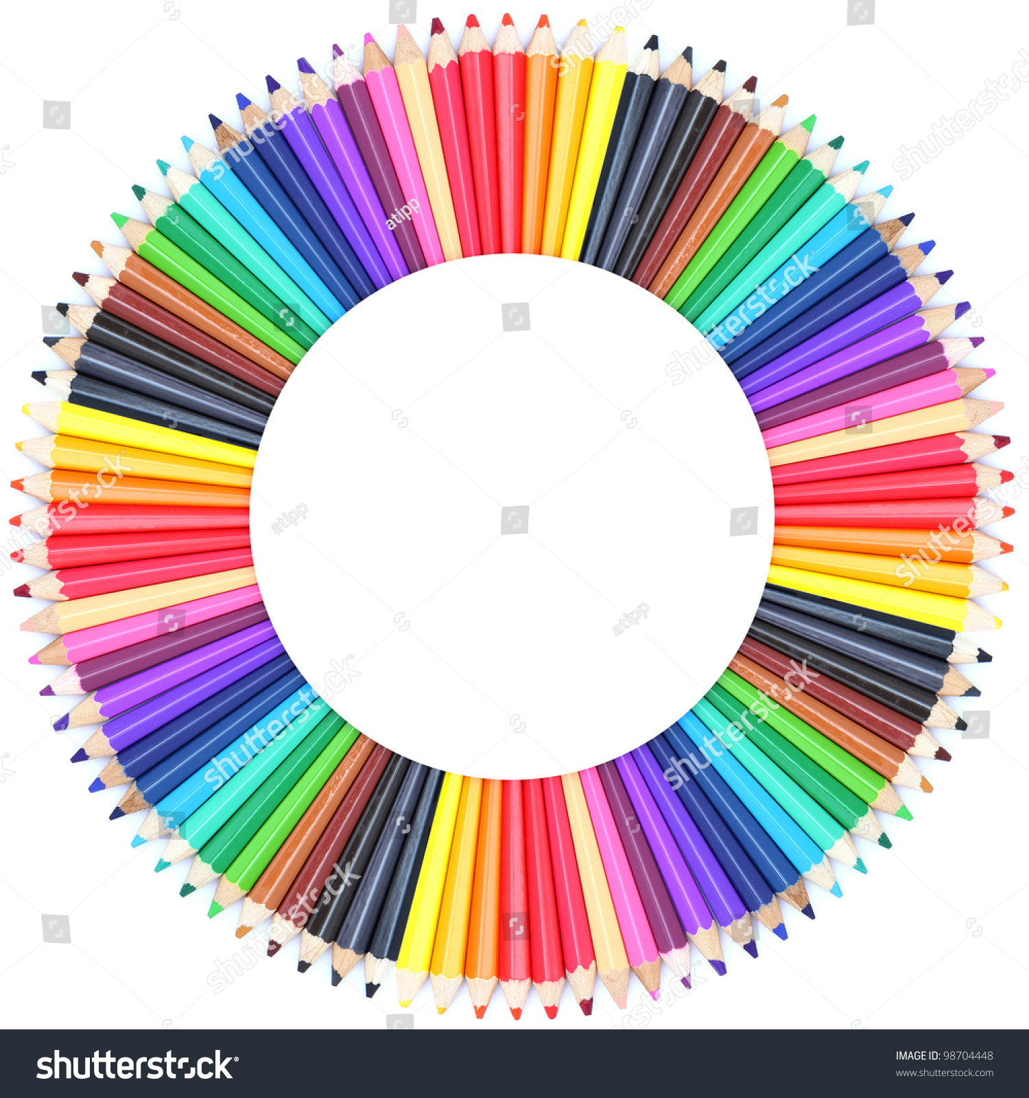 Circle color chart made color pencils stock photo 98704448 circle color chart made of color pencils nvjuhfo Images