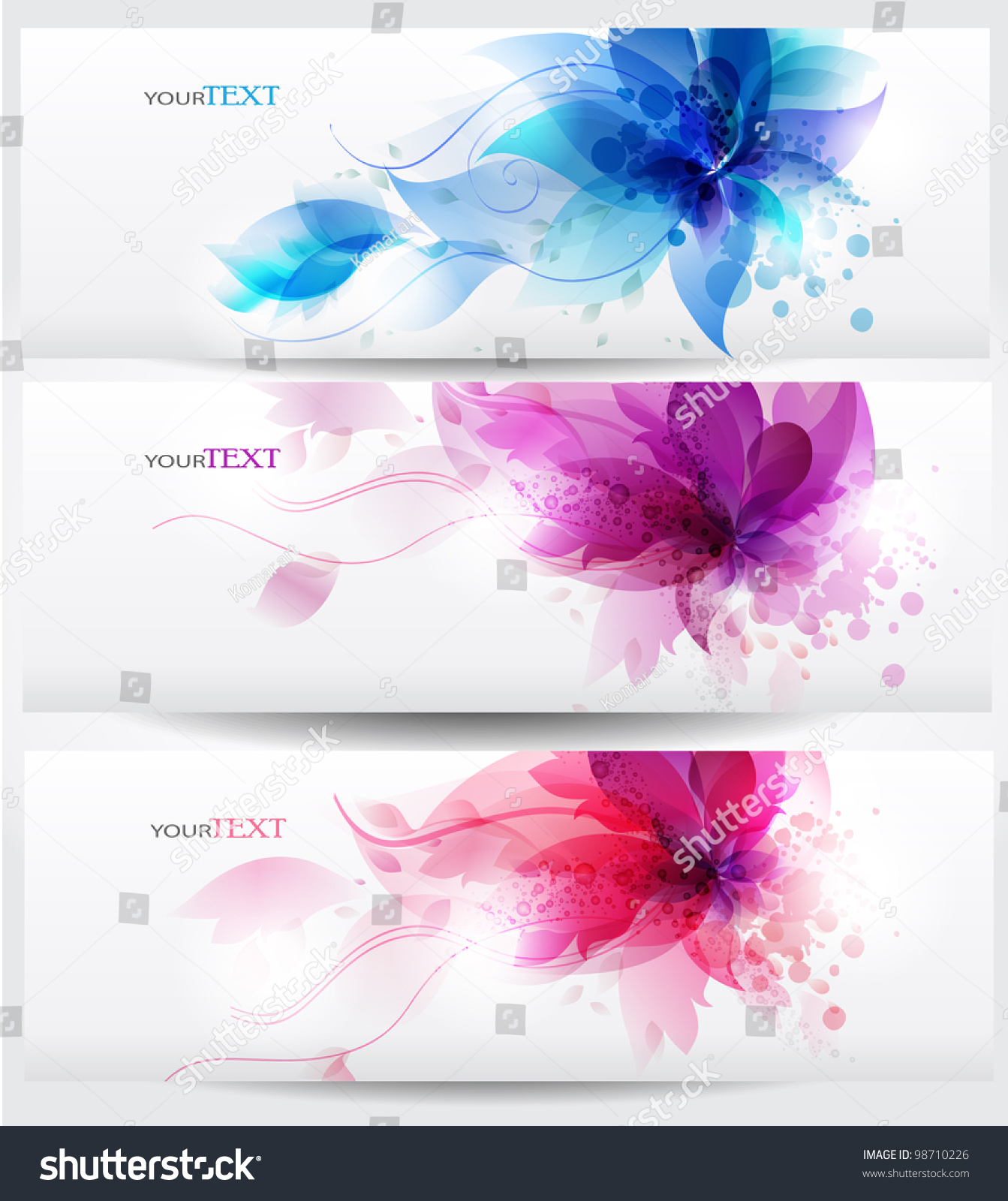 Flower Vector Background Brochure Template. Nature Layouts