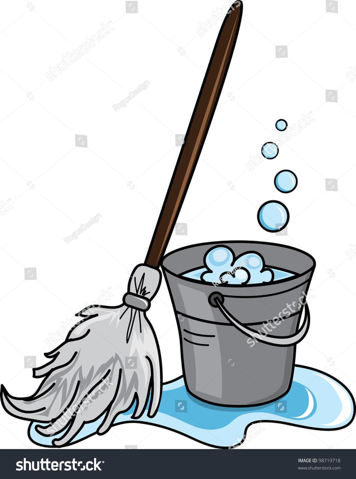 clip art illustration cleaning bucket filled stock illustration rh shutterstock com clip art cleaning crew clip art cleaning pictures