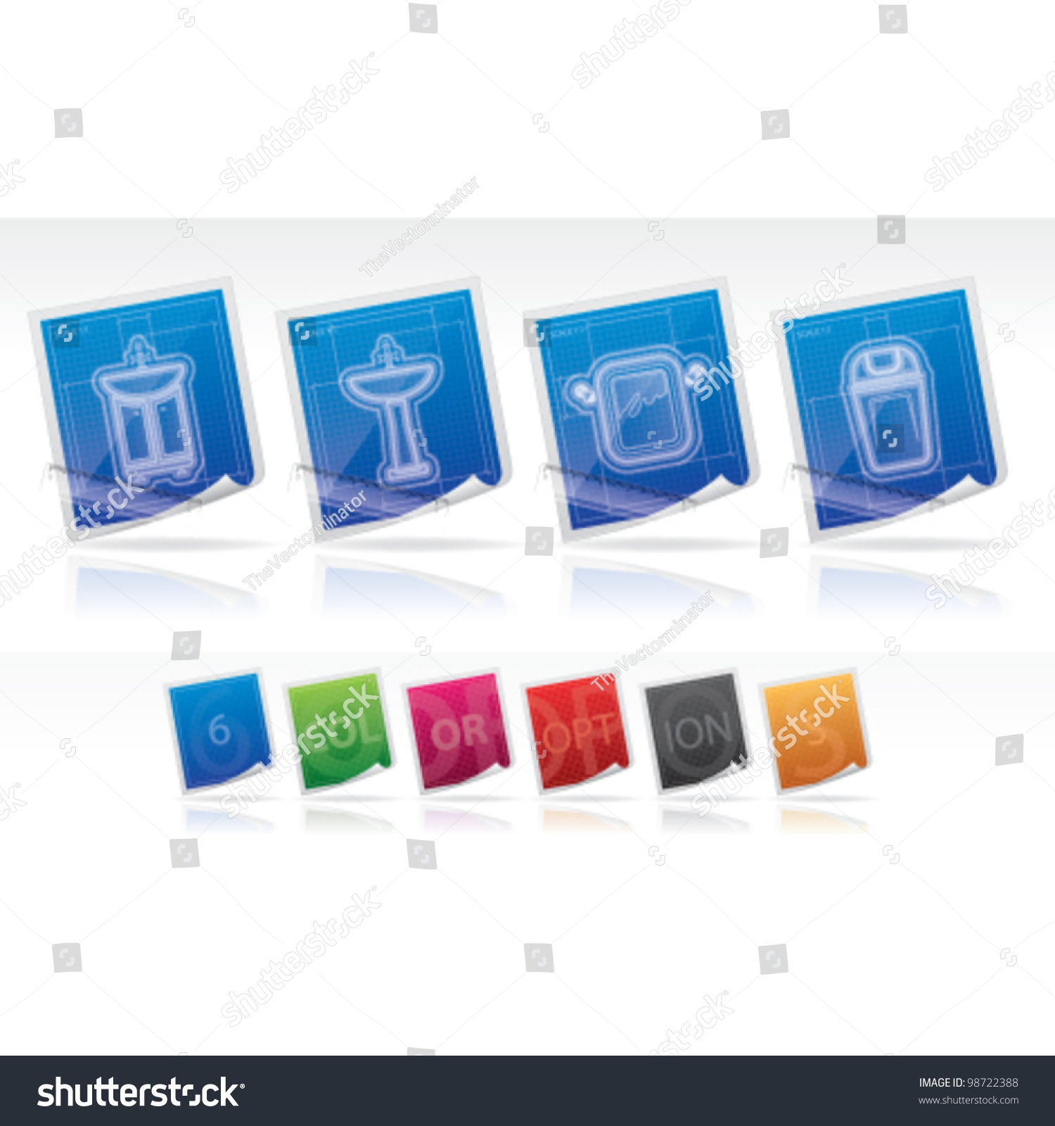 Bathroom appliances stock vector illustration 98722388 for Restroom appliances