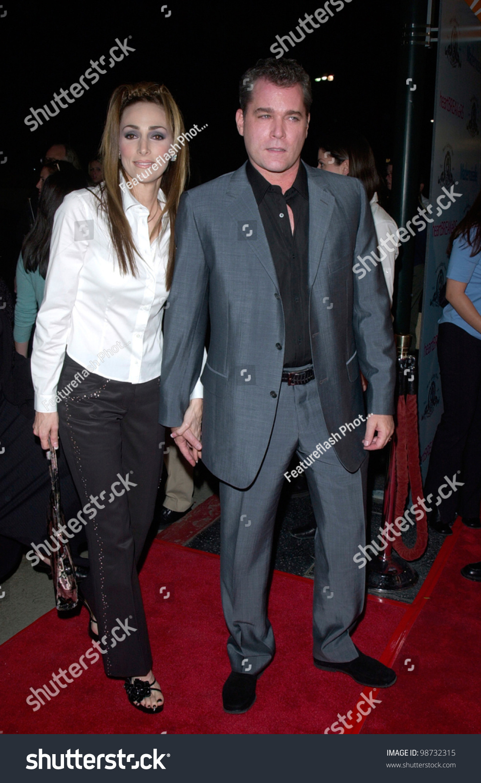 Actor Ray Liotta & Wife At The World Premiere, In ...