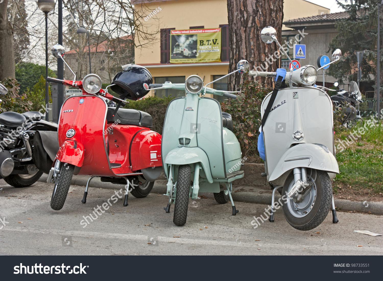 Lugo Italy  city photos : VOLTANA DI LUGO RA ITALY MARCH 25: vintage italian scooters Vespa ...