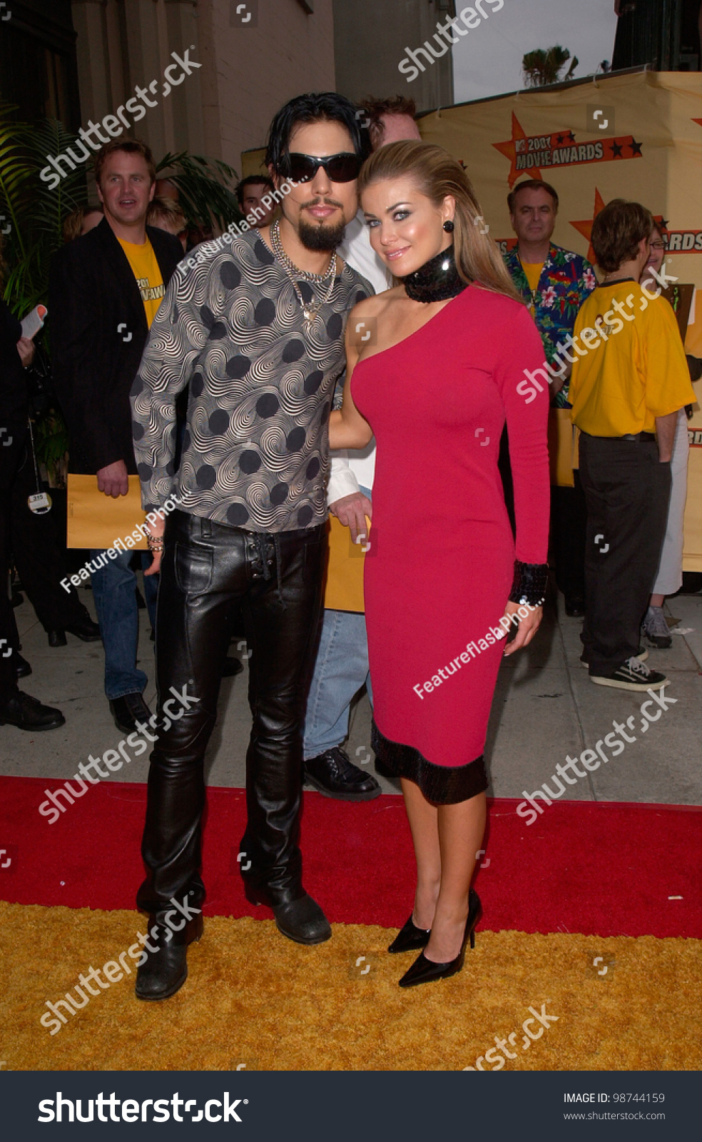 Actress Carmen Electra & Boyfriend Dave Navarro Of Red Hot ...
