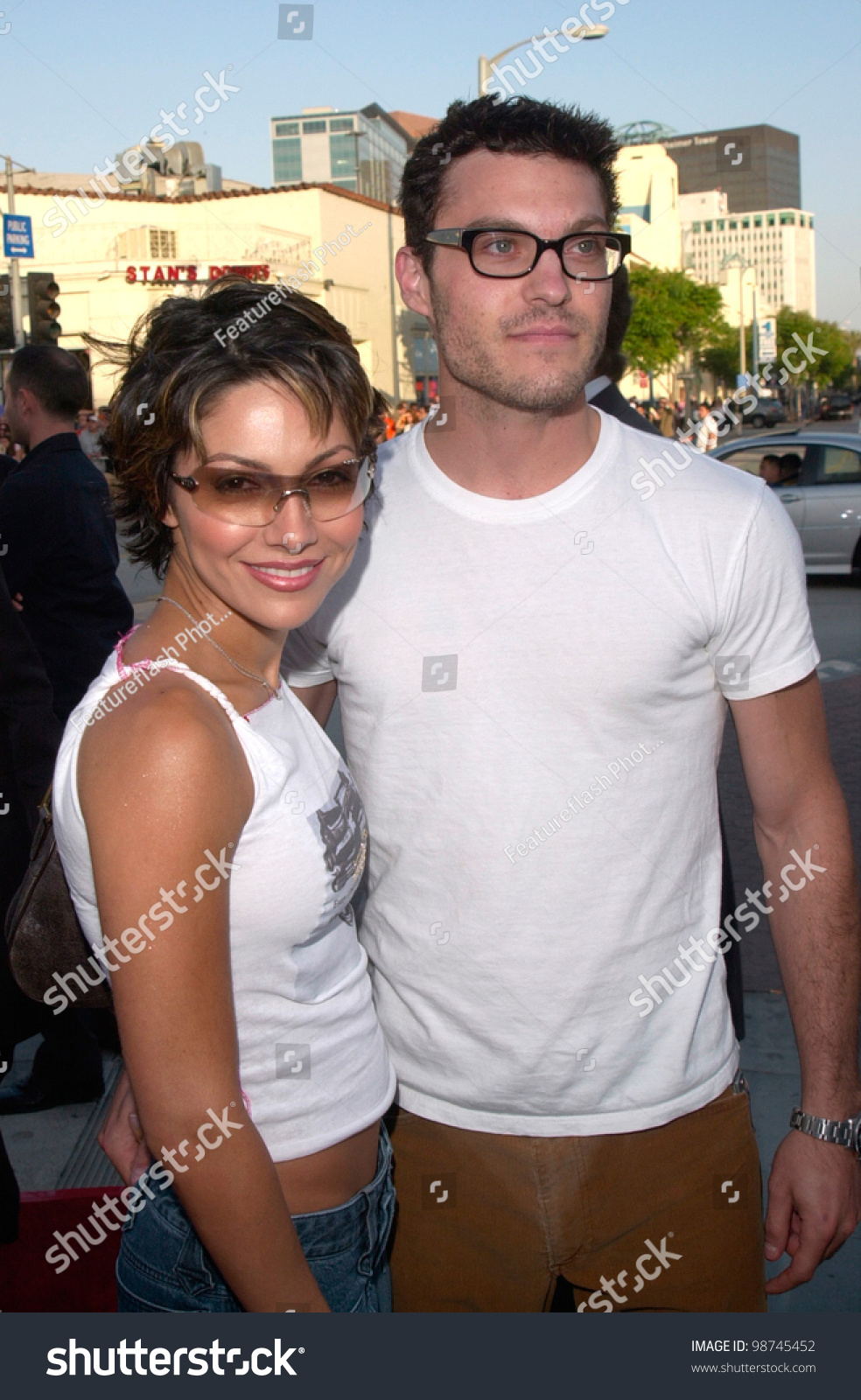 Brian Austin Green Girlfriends Amazing actor brian austin green girlfriend vanessa stock photo 98745452
