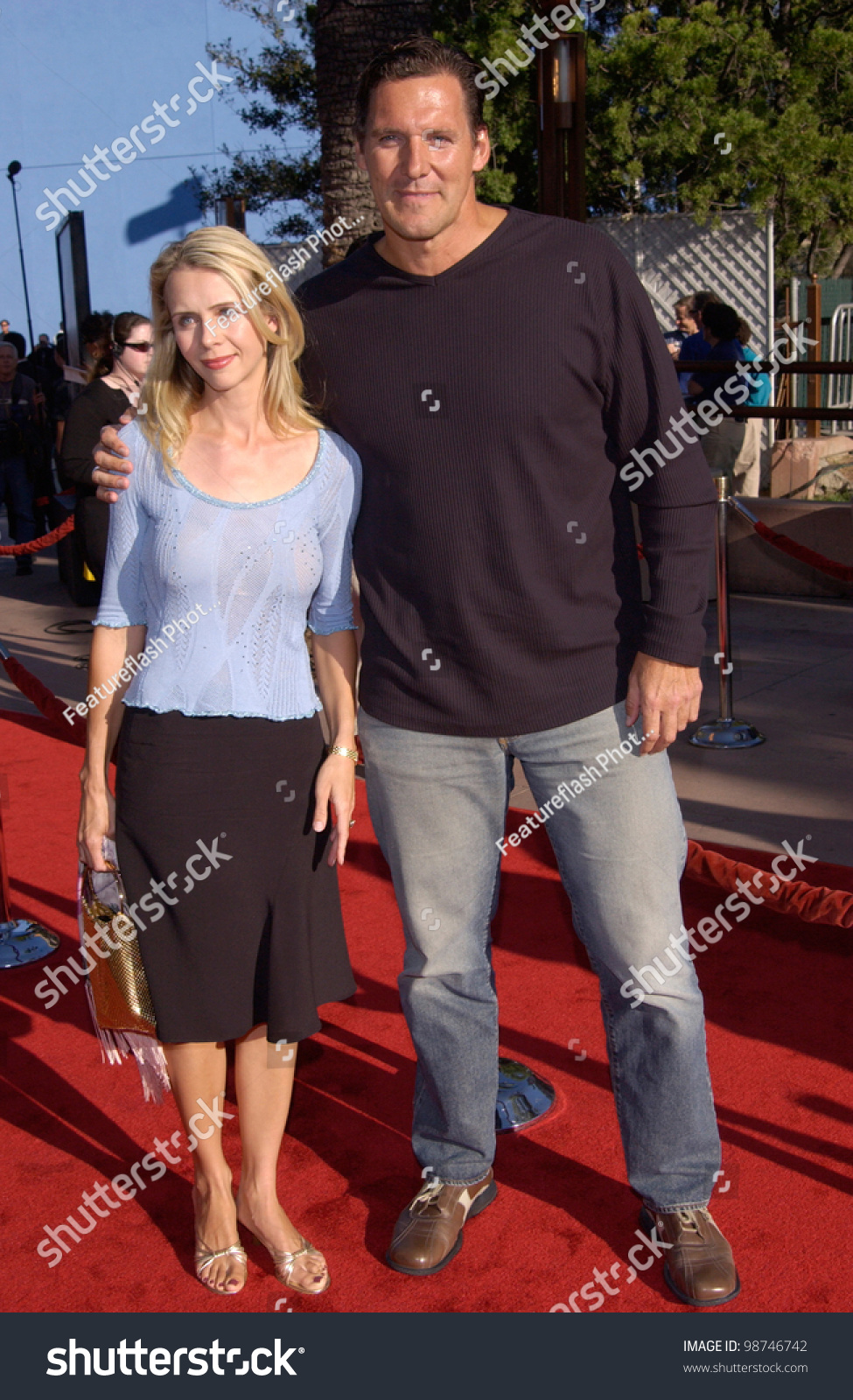 Actor Ralf Moeller Wife World Premiere Stock Photo