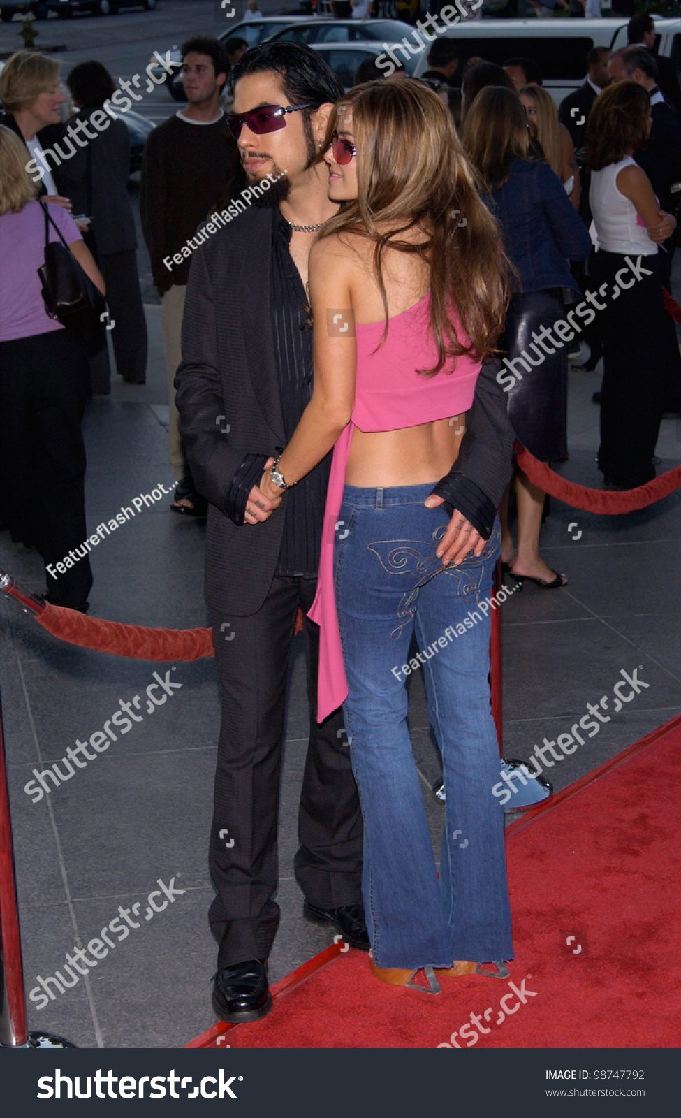 Actress Carmen Electra & Boyfriend Dave Navarro At The Los ...