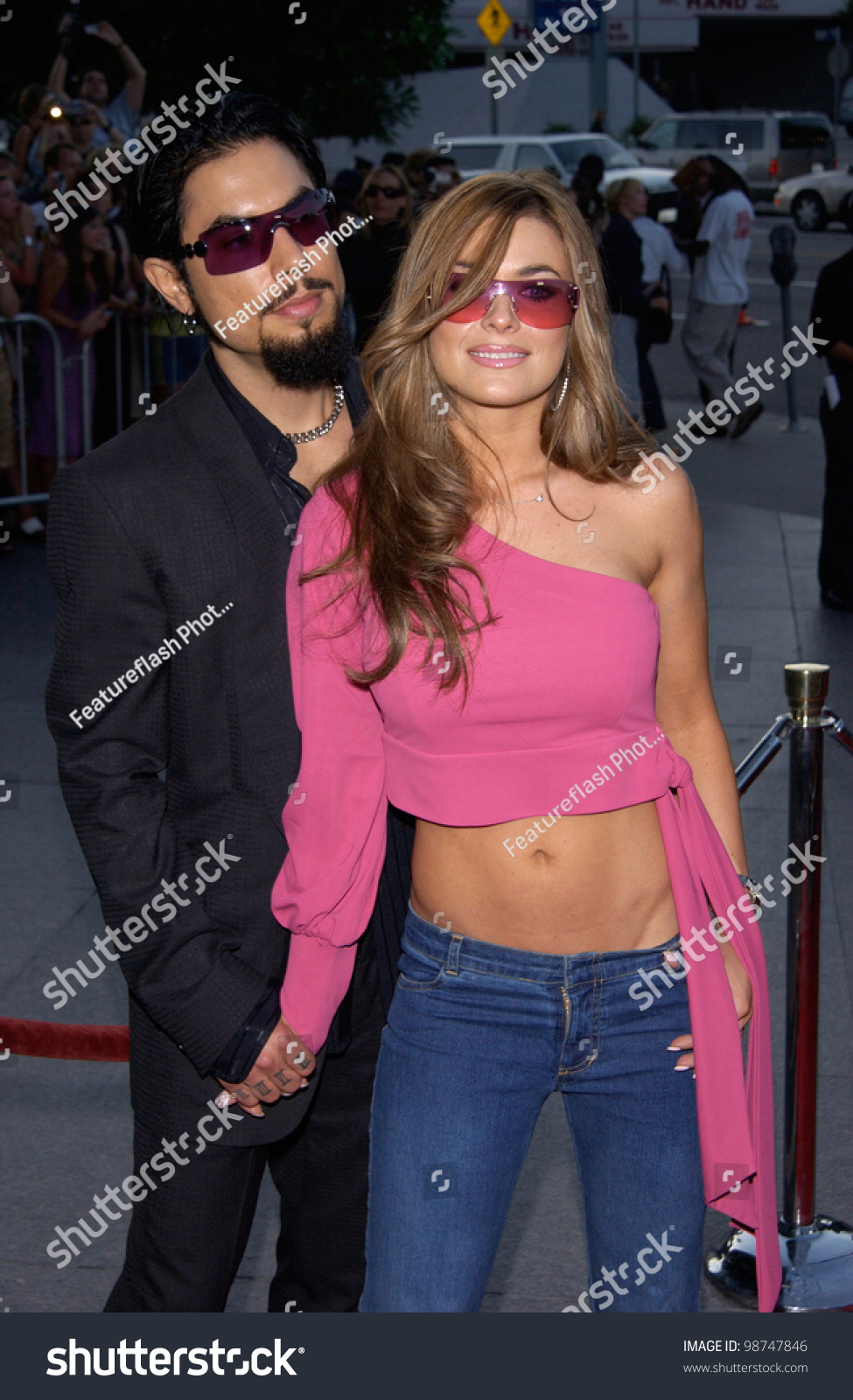 Actress Carmen Electra Boyfriend Dave Navarro Stock Photo ...