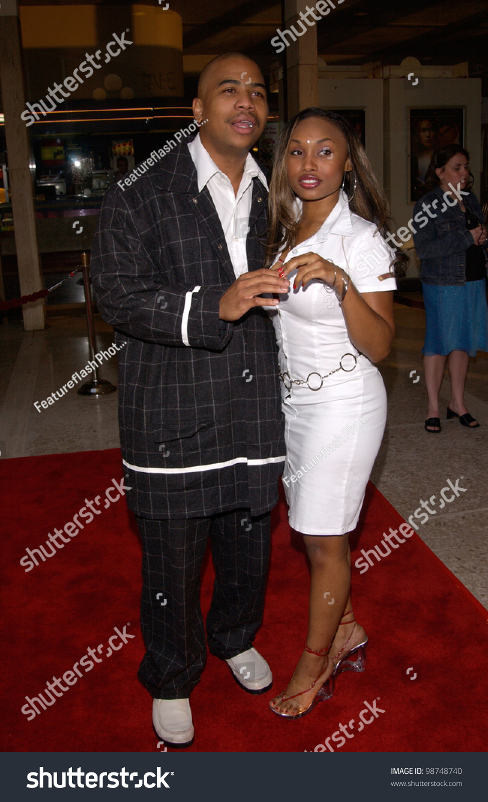 Actor Omar Gooding & Actress Girlfriend Angell Conwell At ...