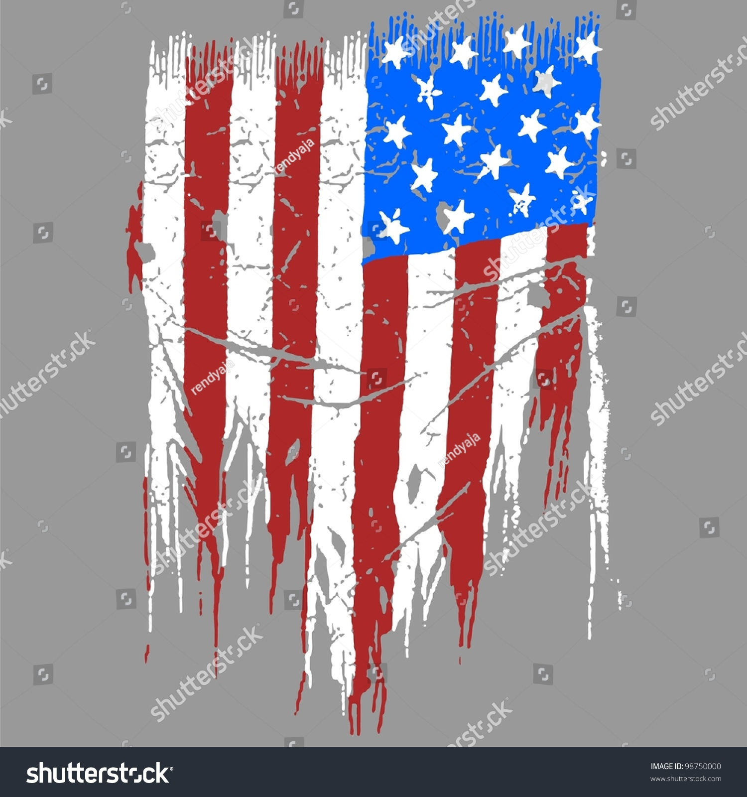 american vector flag drawing watercolor stock vector