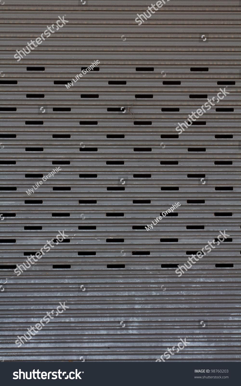 Steel Garage Door Texture metal garage door gate store roller stock photo 98760203