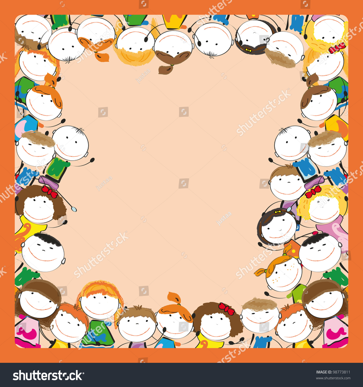 Small Smile Colorful Kids Frame Stock Illustration 98773811 ...