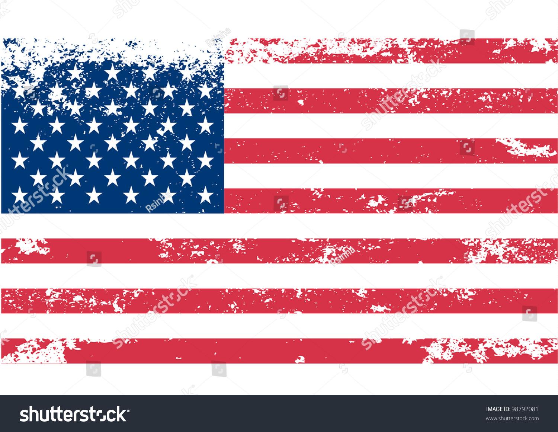 USA American Flag  Vector Stock Photo 98792081 - Avopix com