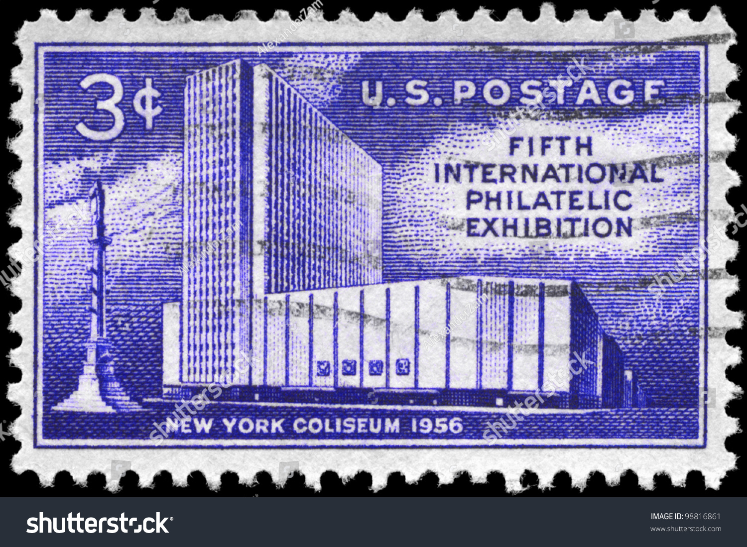 Usa circa 1956 stamp printed usa stock photo 98816861 for New york state architect stamp