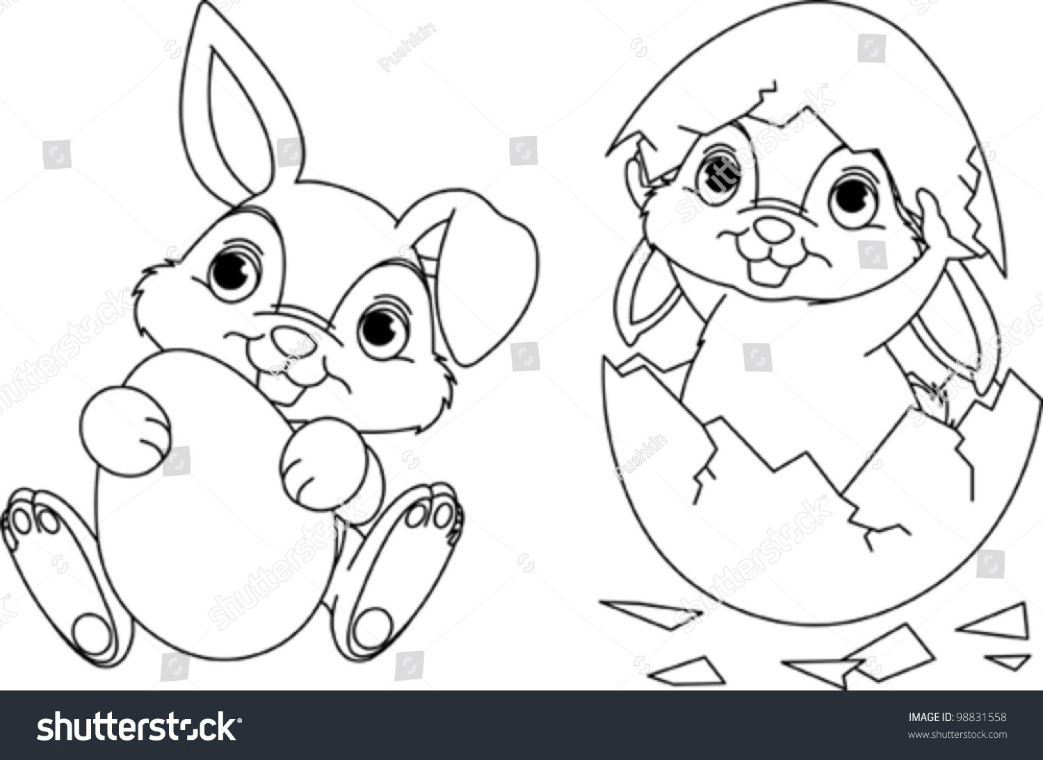 Coloring pages bunny