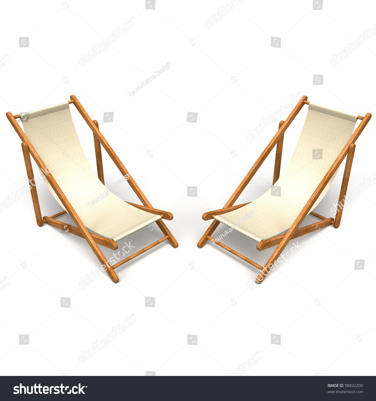 Beach Chairs Top View Stock Illustration Shutterstock