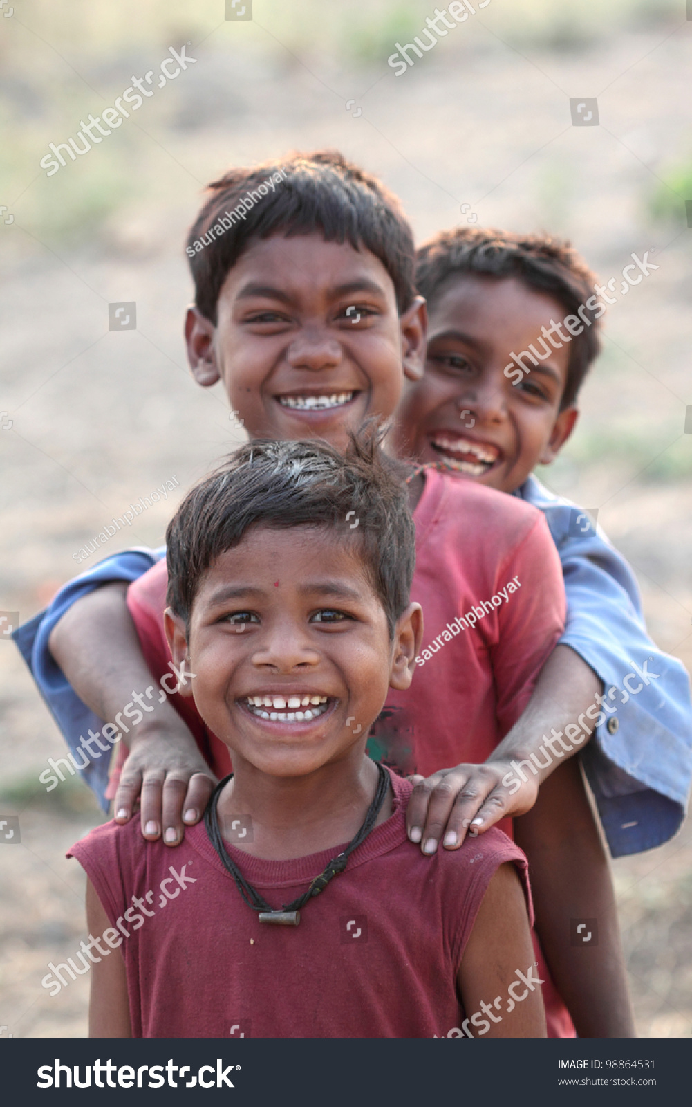 three happy indian kids stock photo 98864531 shutterstock