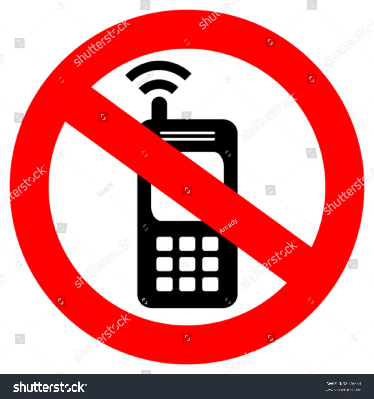 Vector No Cell Phone Sign Stock Vector 98926634 Shutterstock