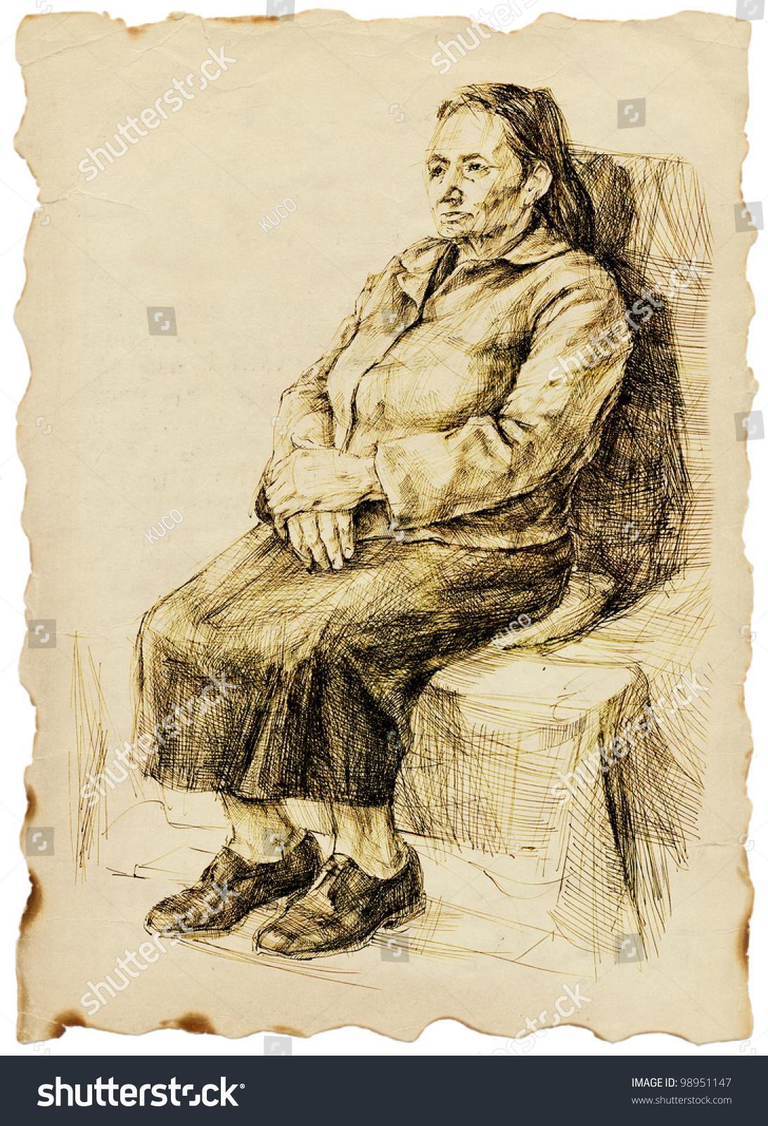 Старуха в юбке 26 фотография
