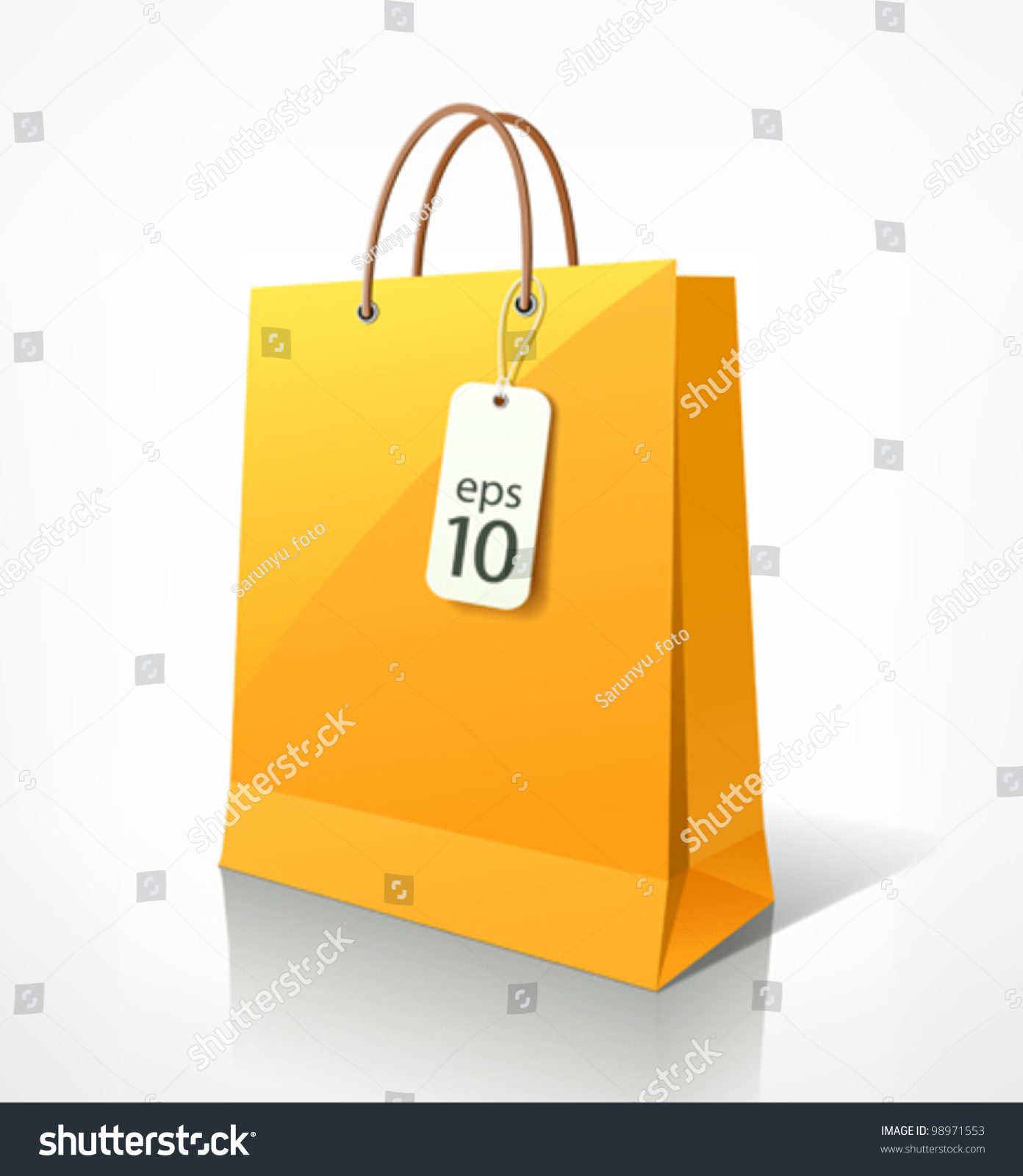 Paper bag yellow - Shopping Paper Bag Yellow Empty Vector Illustration 98971553 Shutterstock