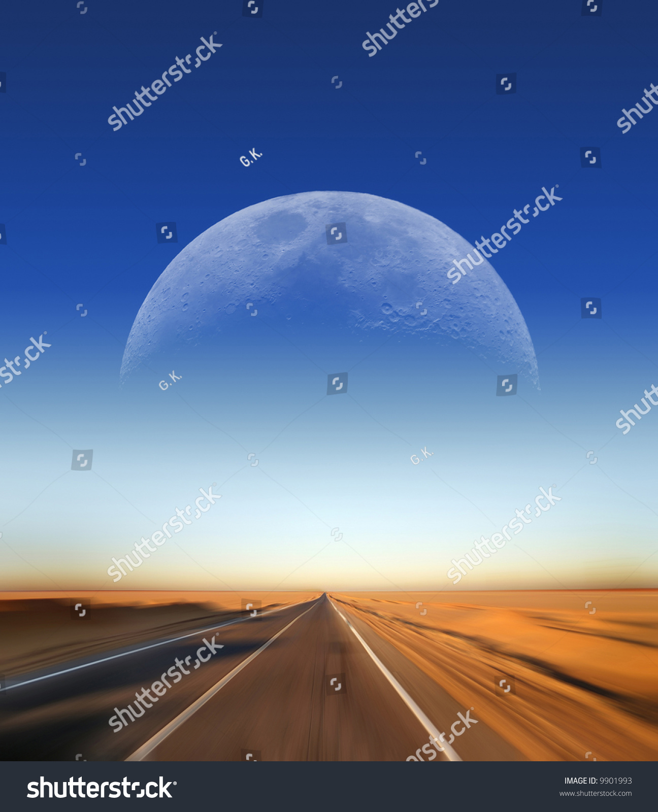 fast driving on desert highway moon stock photo shutterstock fast driving on desert highway moon in the background great for cover page of