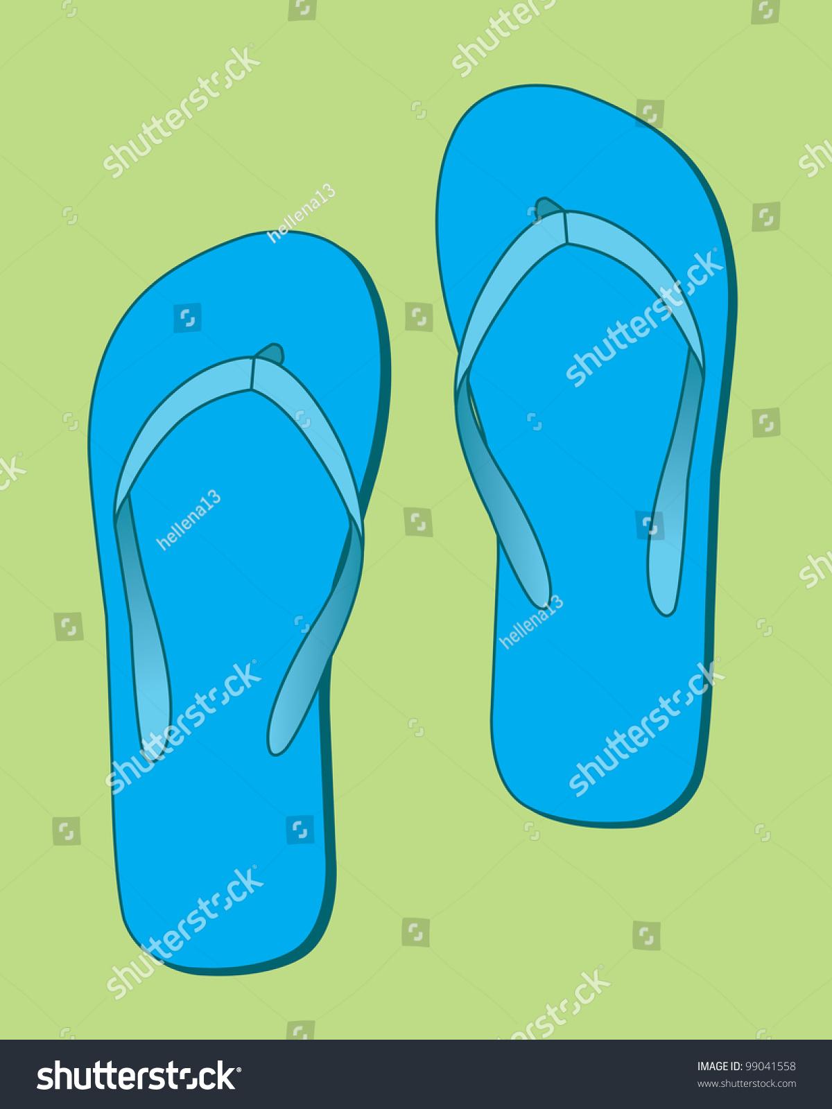 4357f523db9a Blue Flip Flops Stock Illustration 99041558 - Shutterstock