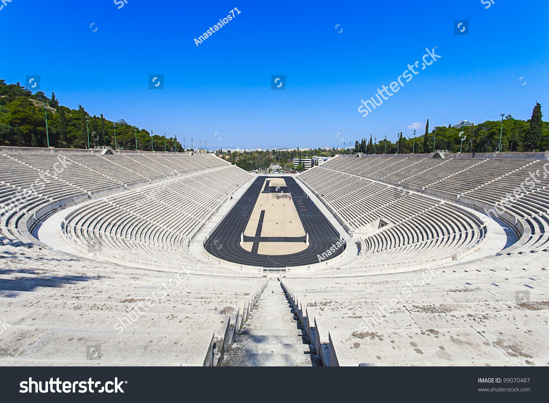 panathenaic stadium kallimarmaro athens hosted first stock
