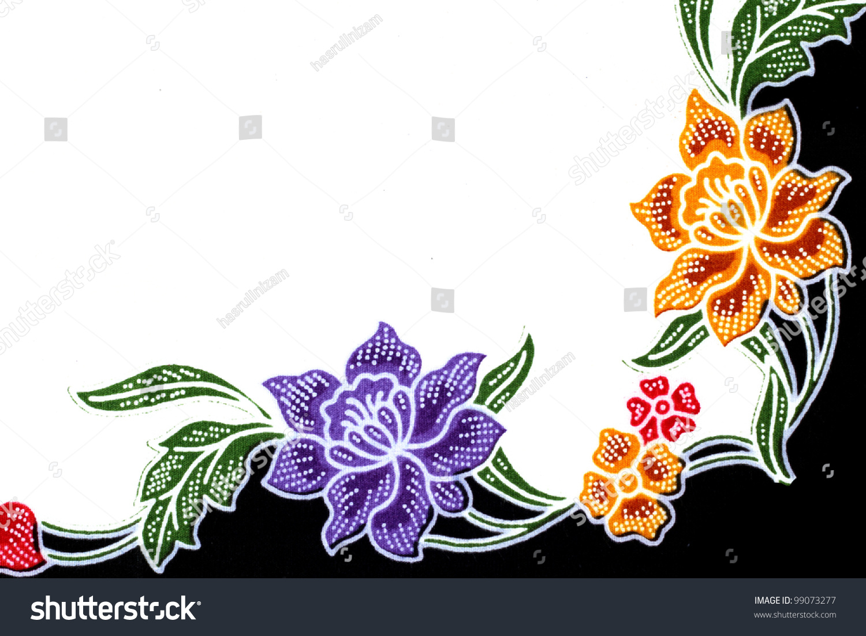Beautiful Batik Patterns That Become Border Stock Photo