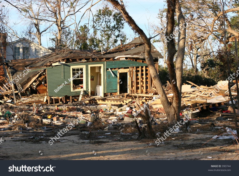Hurricane katrina damage home stock photo 990744 for Katrina home