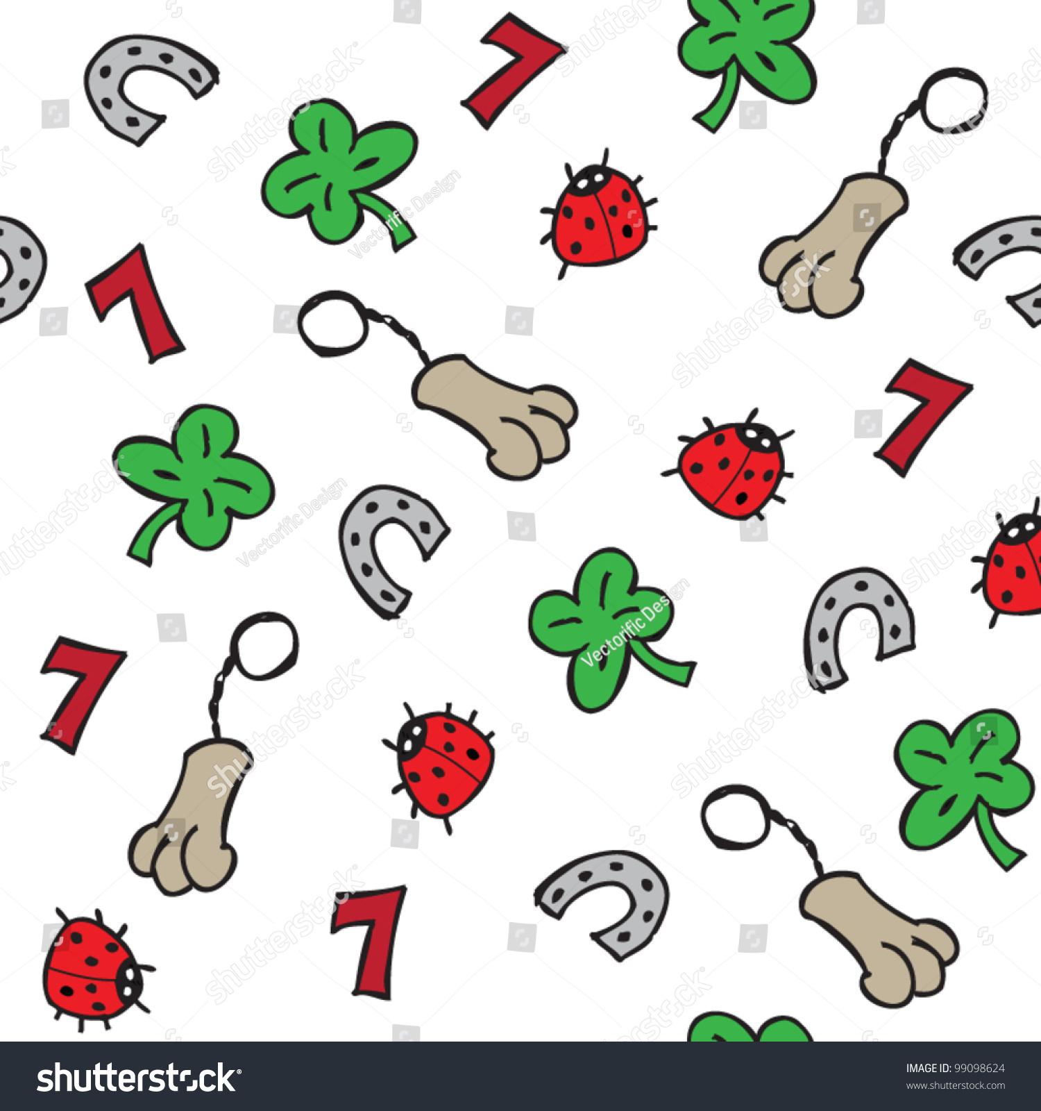Lucky charms illustration seamless pattern stock vector 99098624 lucky charms illustration seamless pattern buycottarizona Images