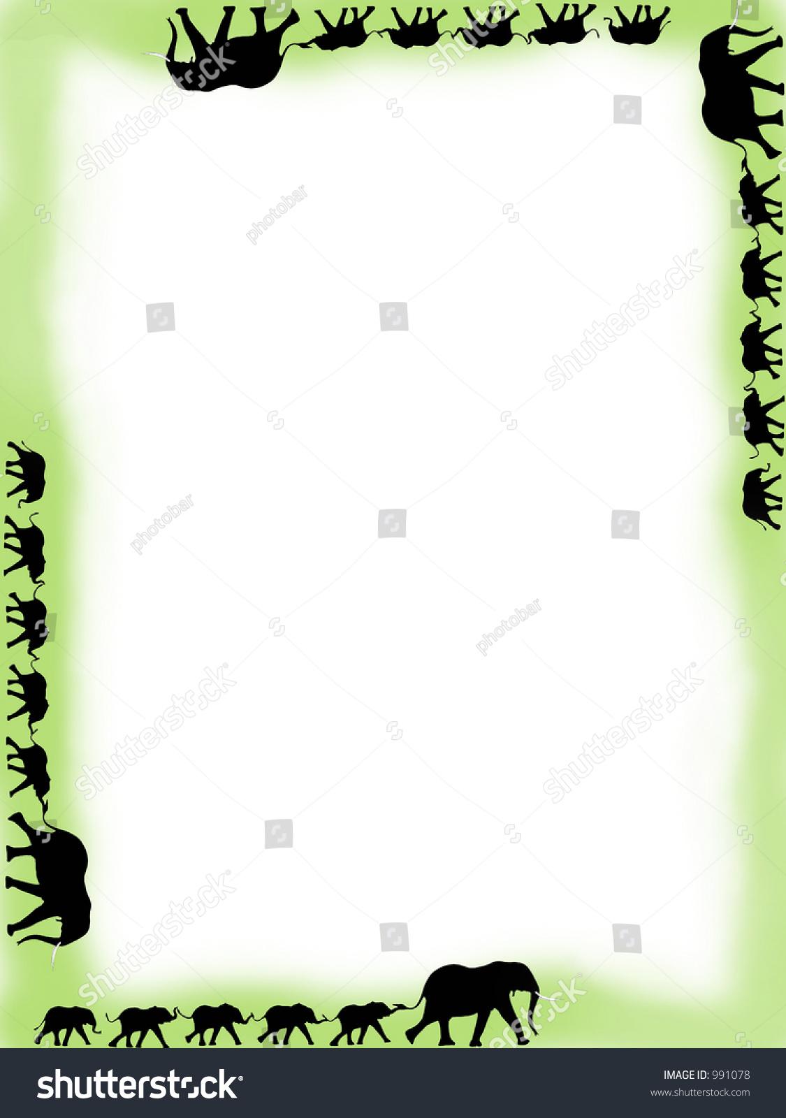 Elephant Train Border Stock Illustration 991078 Shutterstock