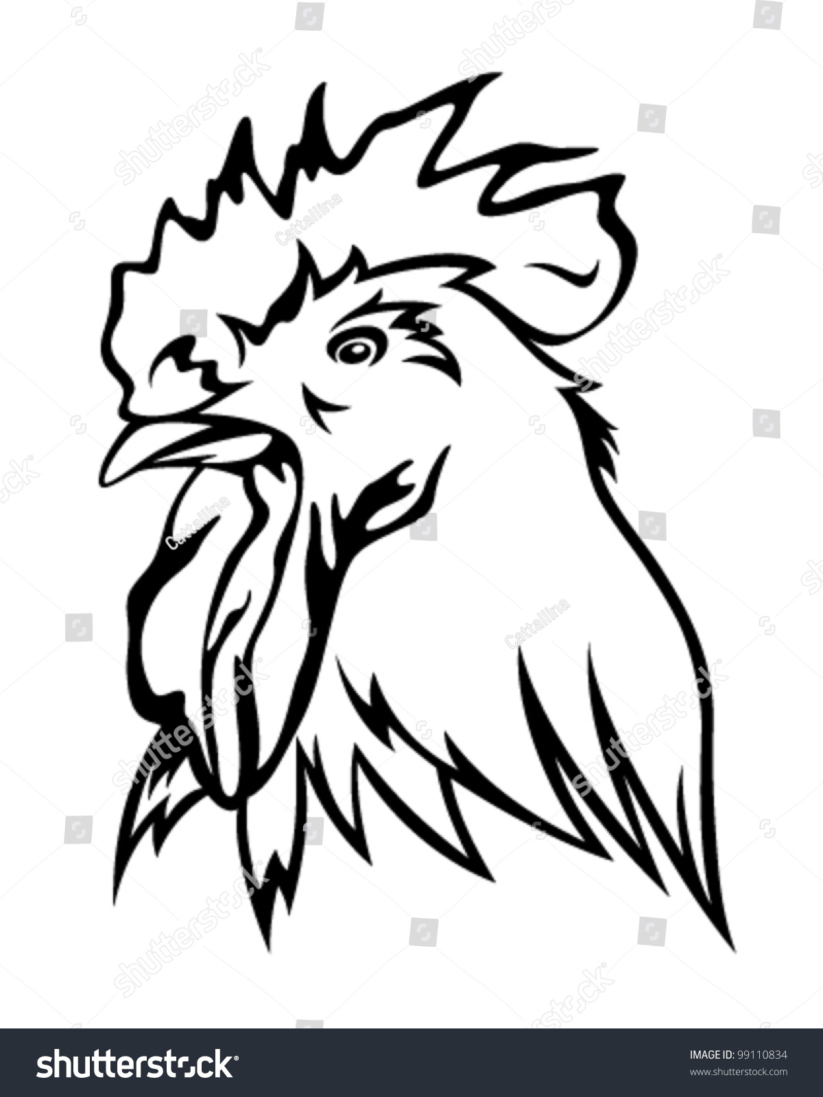 Drawing Rooster Head Images Stock Photos amp Vectors