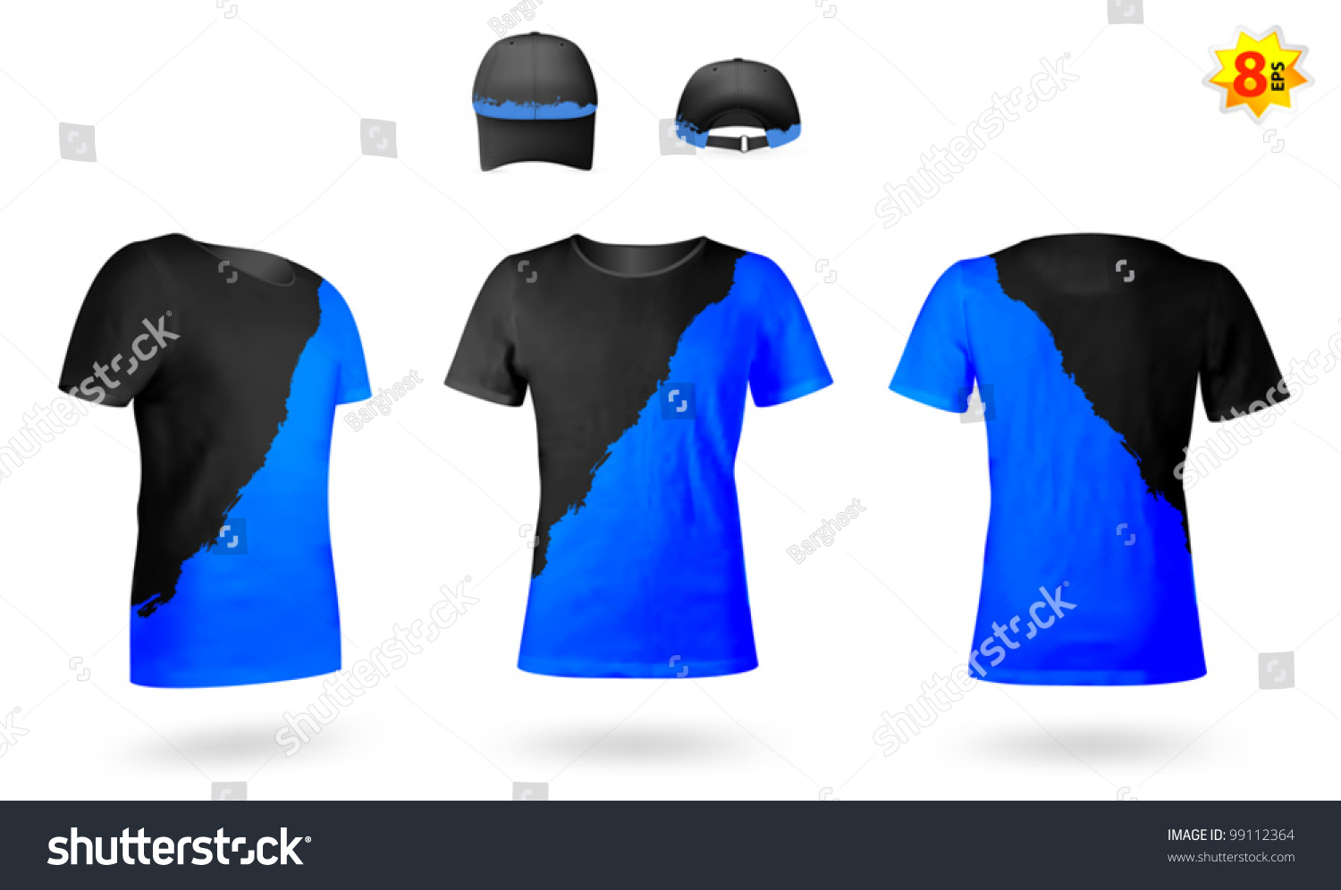 Design template twocolor tshirts stock vector 99112364 for Two color shirt design