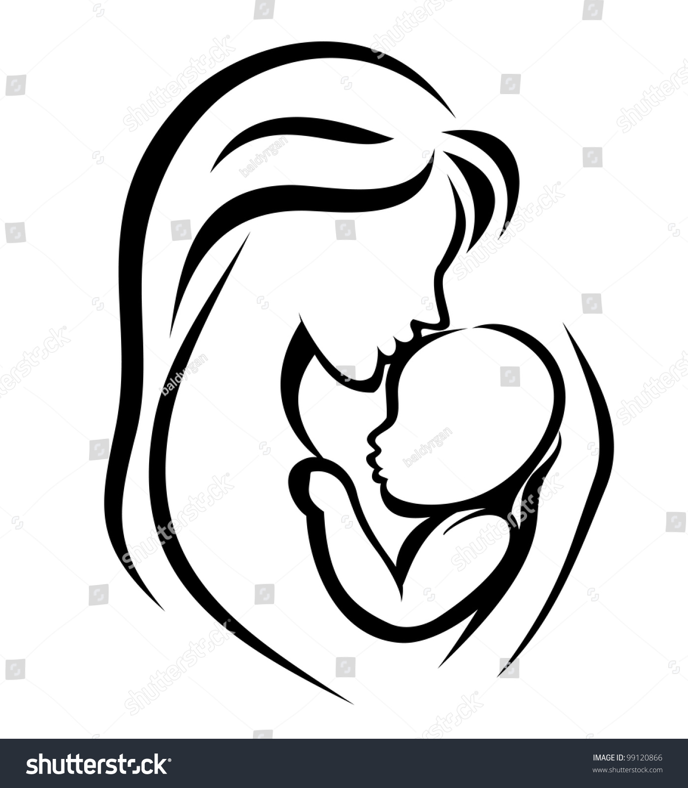 mom and baby elephant silhouette tattoo