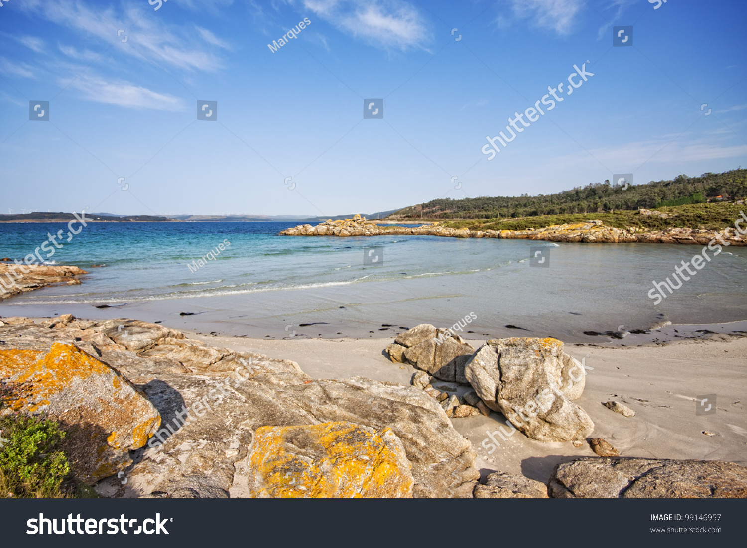 Beautiful beach muxia la coruna spain stock photo 99146957 for Beautiful beaches in la