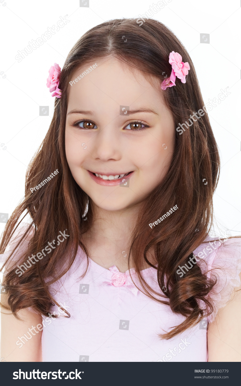 Vertical Portrait Of Pretty 14 Year Old Girl Stock Image: Vertical Portrait Of A Charming Girl Smiling At Camera