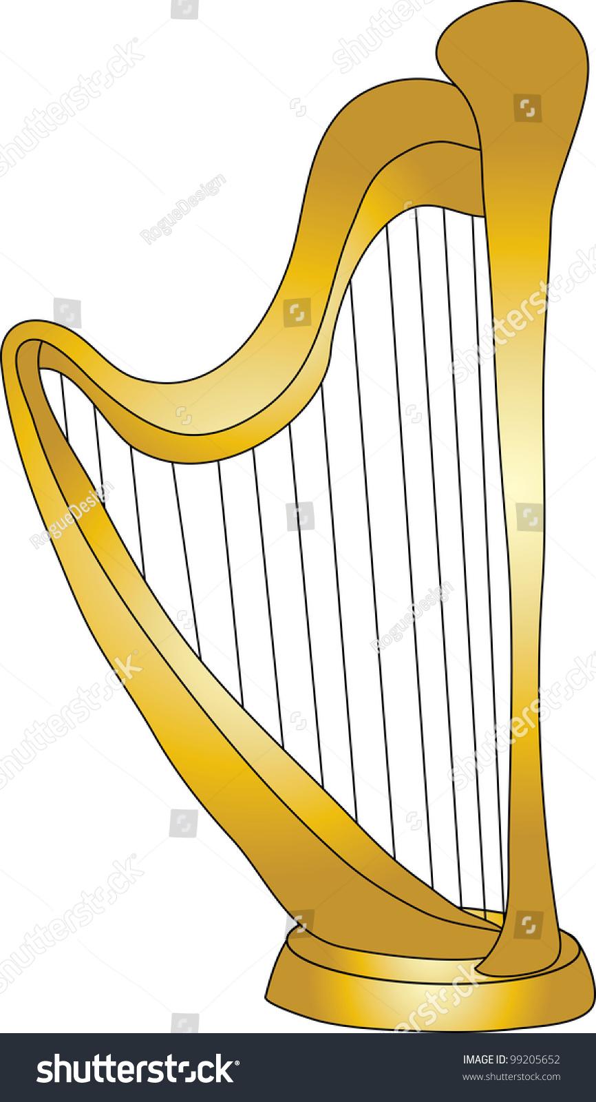 Clip Art Illustration Cartoon Harp Stock Illustration