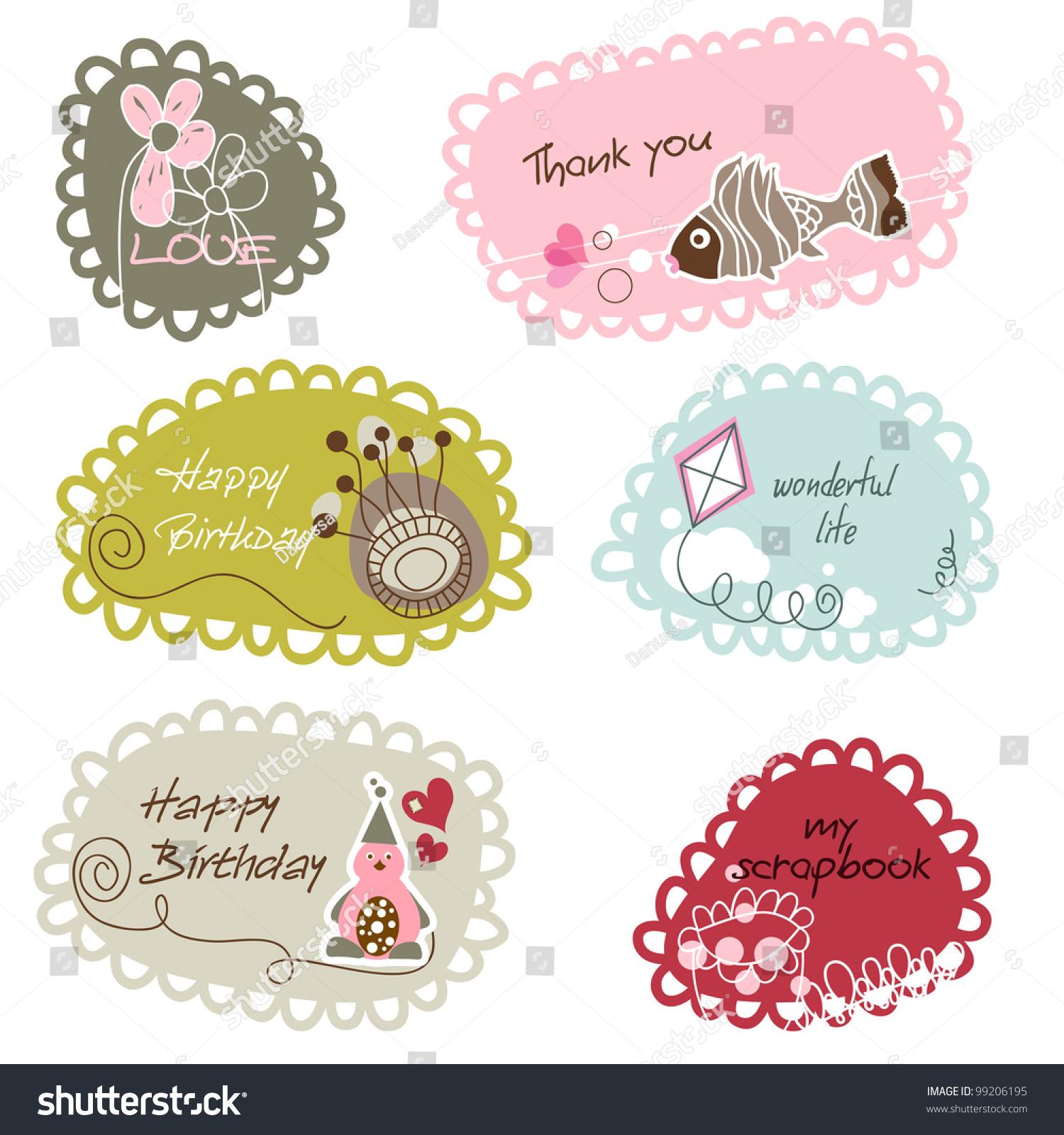 Cute Frames Banners Kids Stock Vector 99206195 - Shutterstock